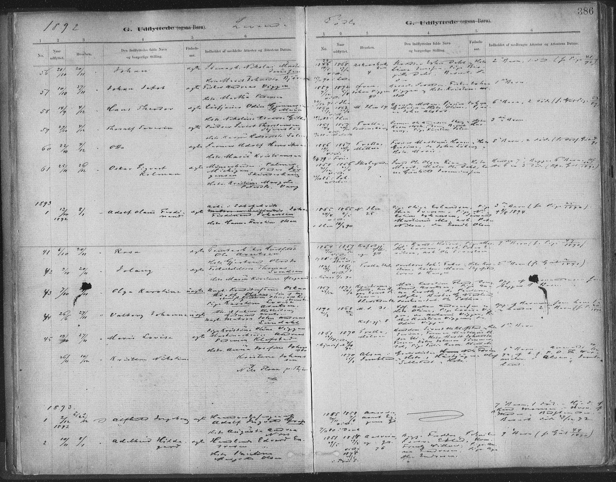 SAT, Ministerialprotokoller, klokkerbøker og fødselsregistre - Sør-Trøndelag, 603/L0163: Ministerialbok nr. 603A02, 1879-1895, s. 386