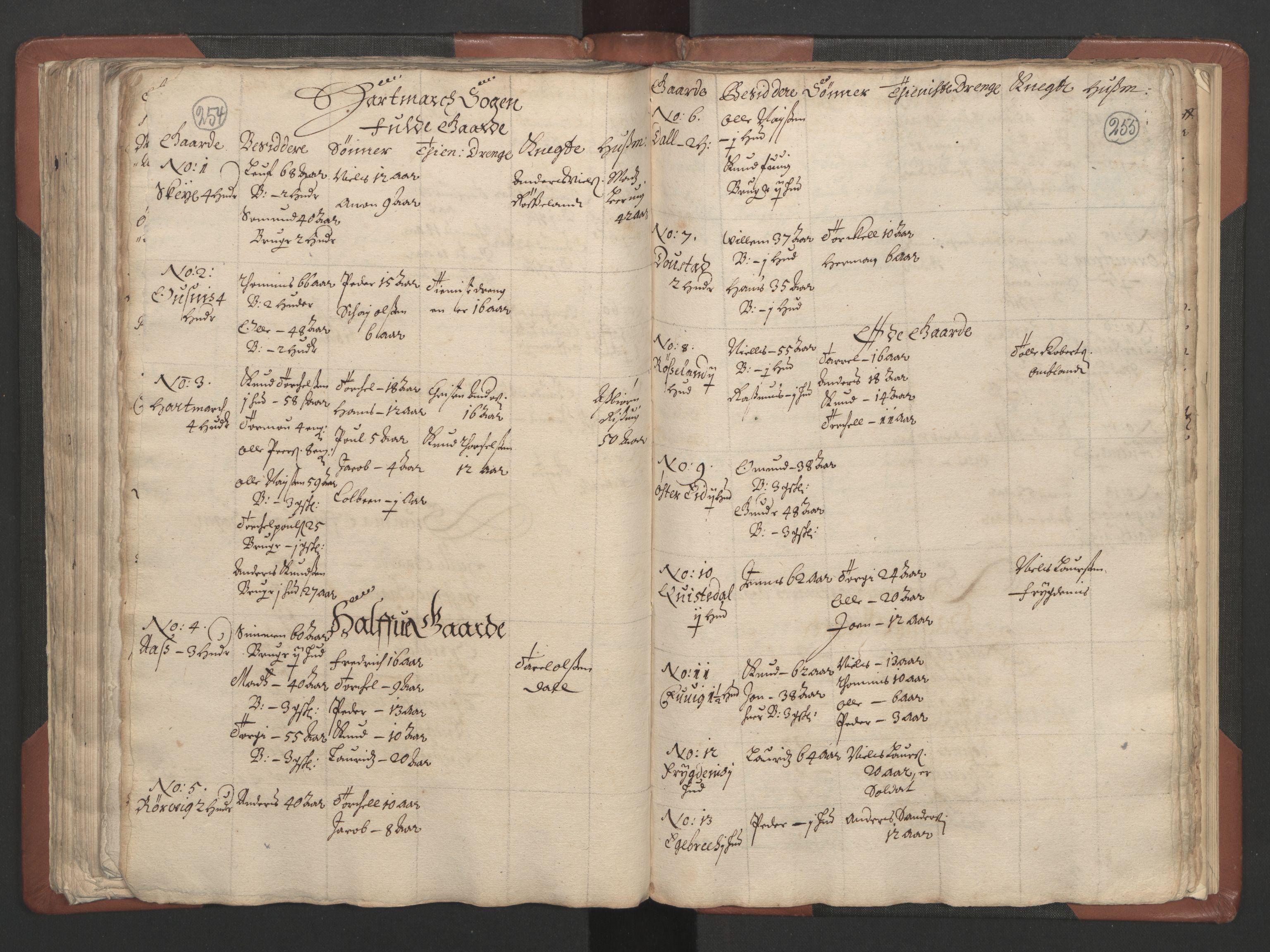 RA, Fogdenes og sorenskrivernes manntall 1664-1666, nr. 9: Mandal len, 1664-1666, s. 254-255