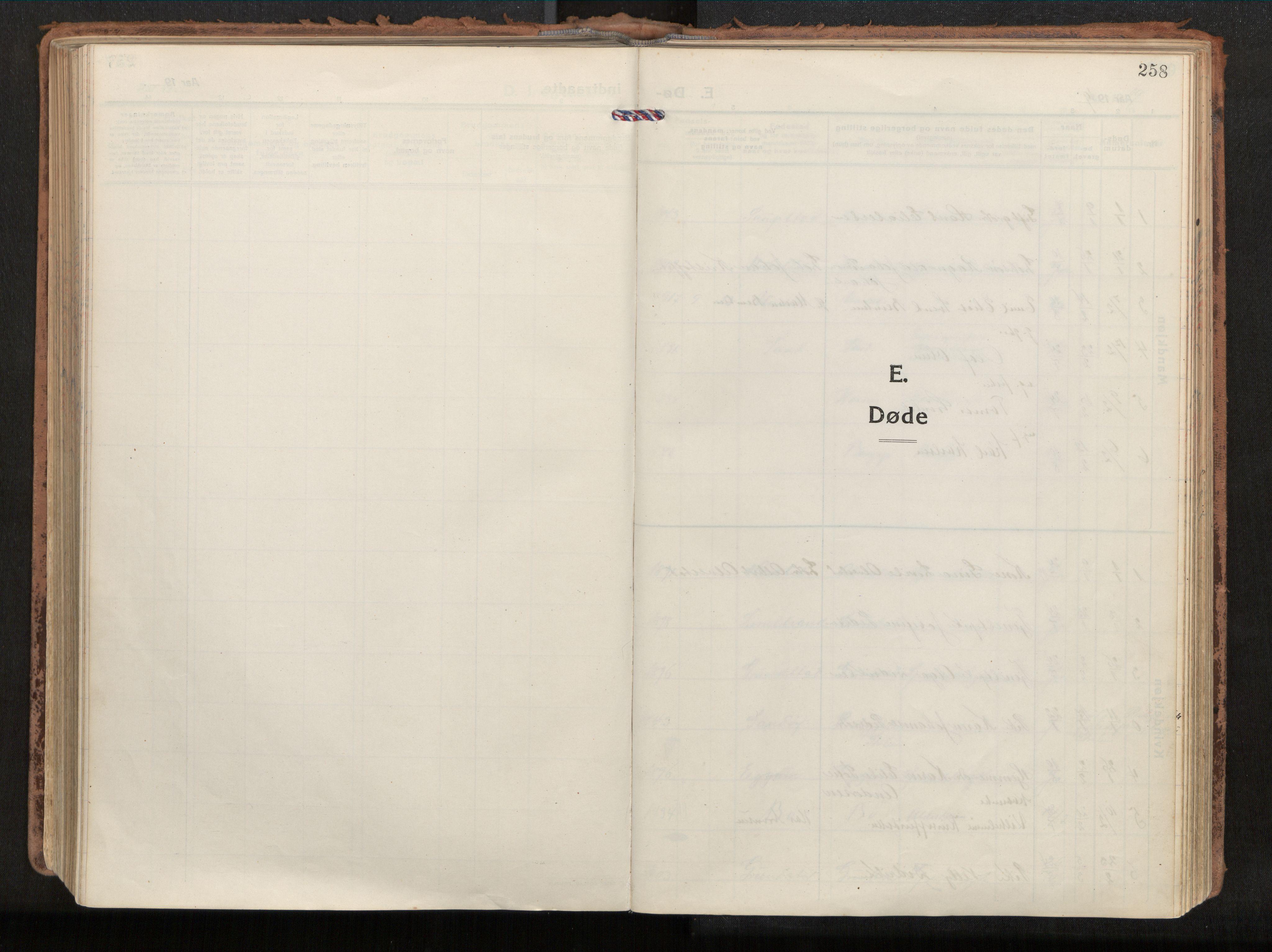 SAT, Ministerialprotokoller, klokkerbøker og fødselsregistre - Nordland, 880/L1136: Ministerialbok nr. 880A10, 1919-1927, s. 258