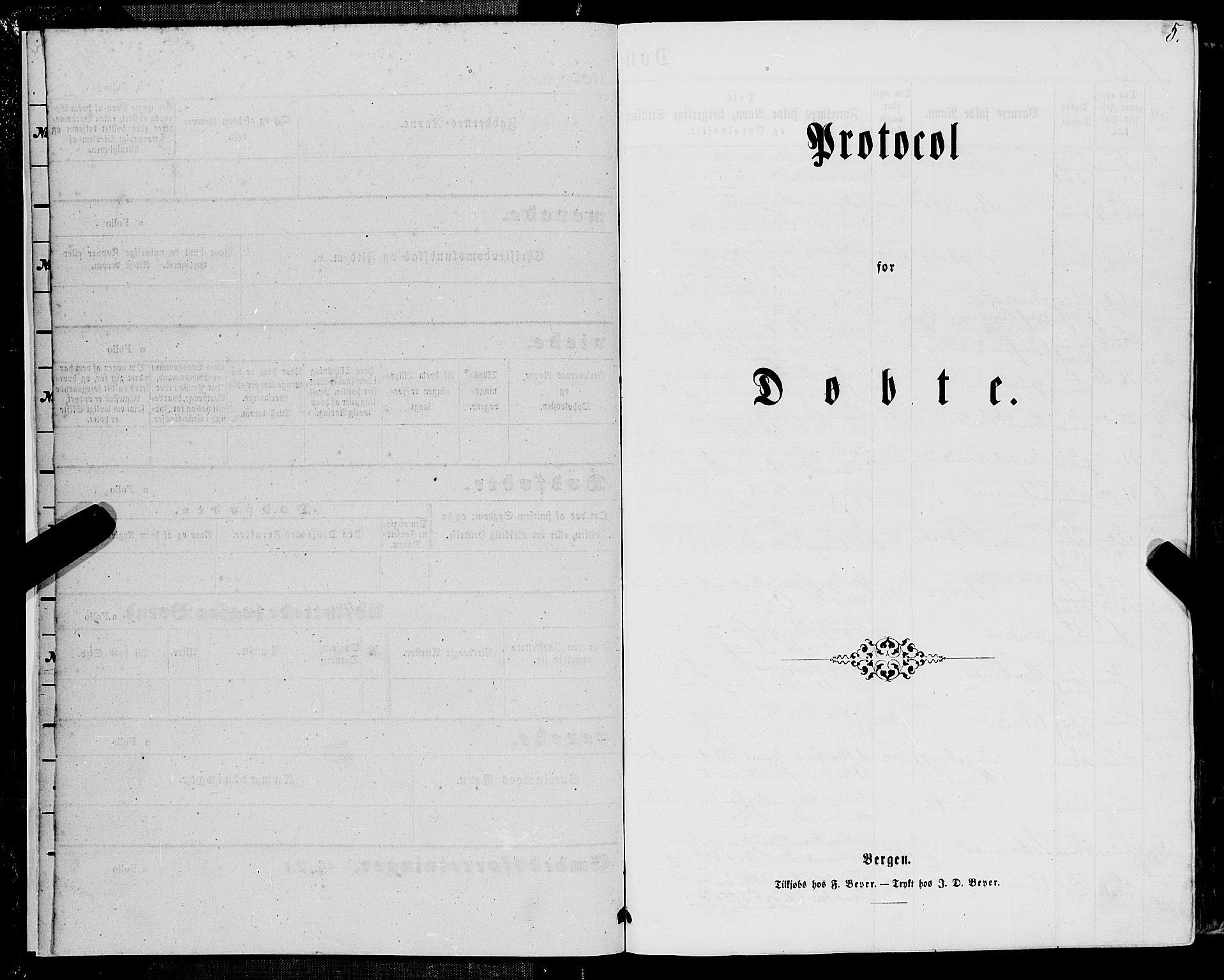 SAB, Manger sokneprestembete, H/Haa: Ministerialbok nr. A 7, 1860-1870, s. 5