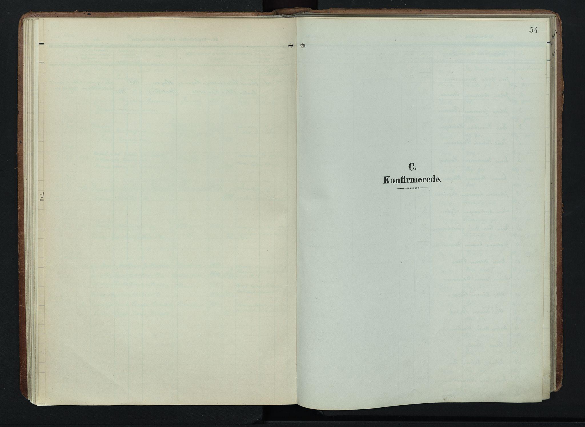 SAH, Søndre Land prestekontor, K/L0005: Ministerialbok nr. 5, 1905-1914, s. 54