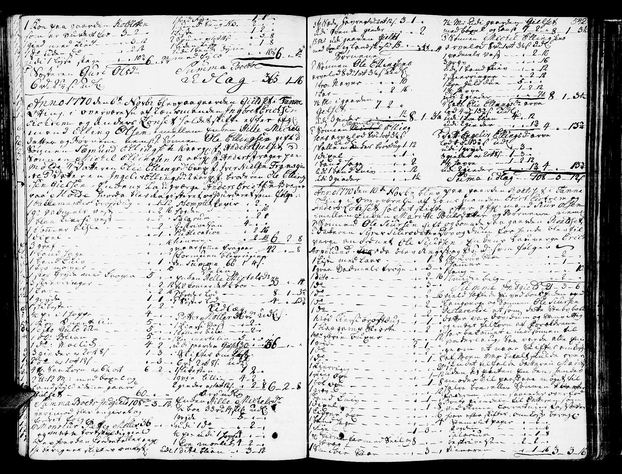 SAT, Romsdal sorenskriveri, 3/3A/L0009: Skifteprotokoll, 1761-1773, s. 541b-542a