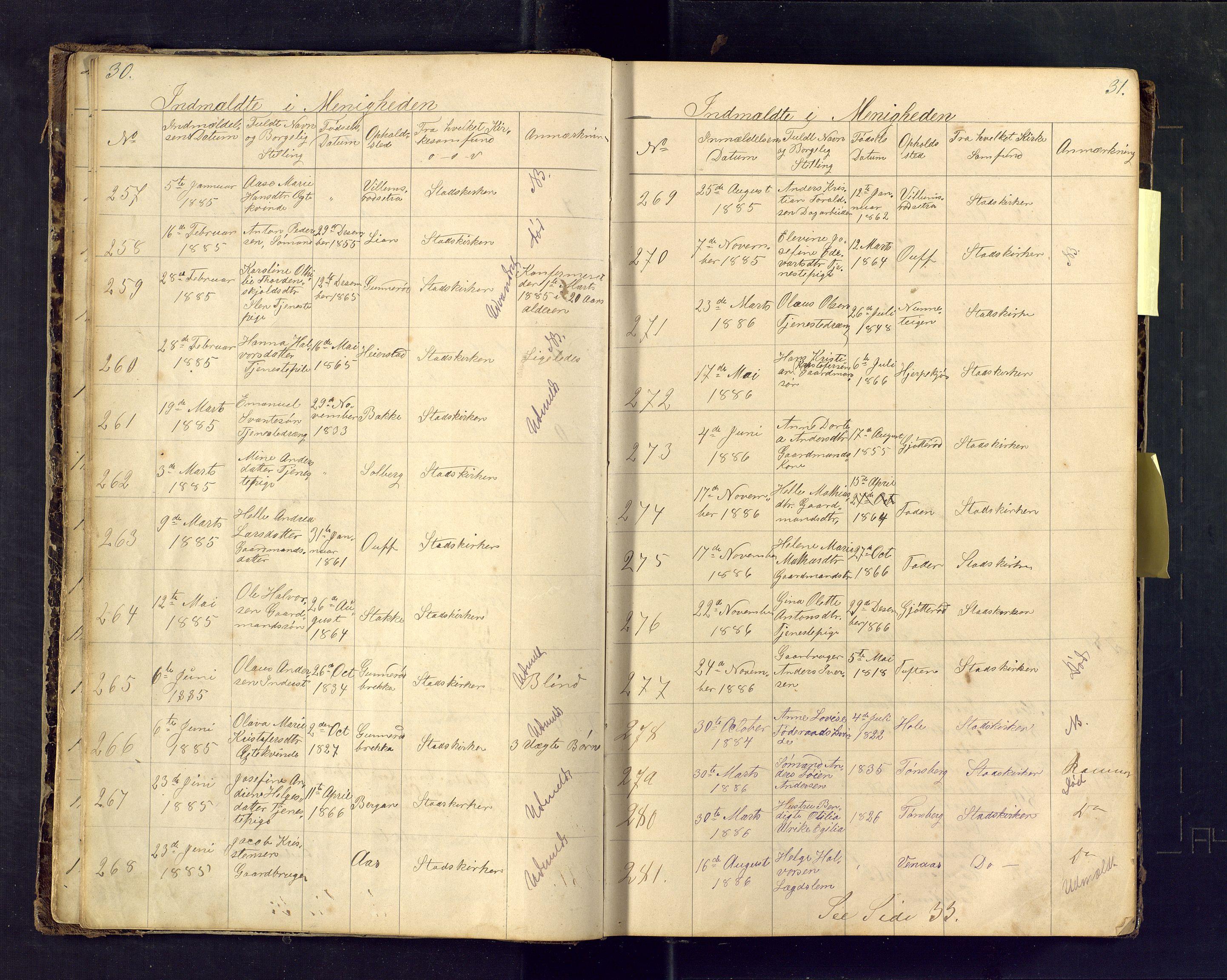 SAKO, Den evangelisk lutherske frimenighet i Jarlsbergs grevskap med flere steder, F/Fa/L0001: Dissenterprotokoll nr. Fa/L0001, 1872-1925, s. 30-31