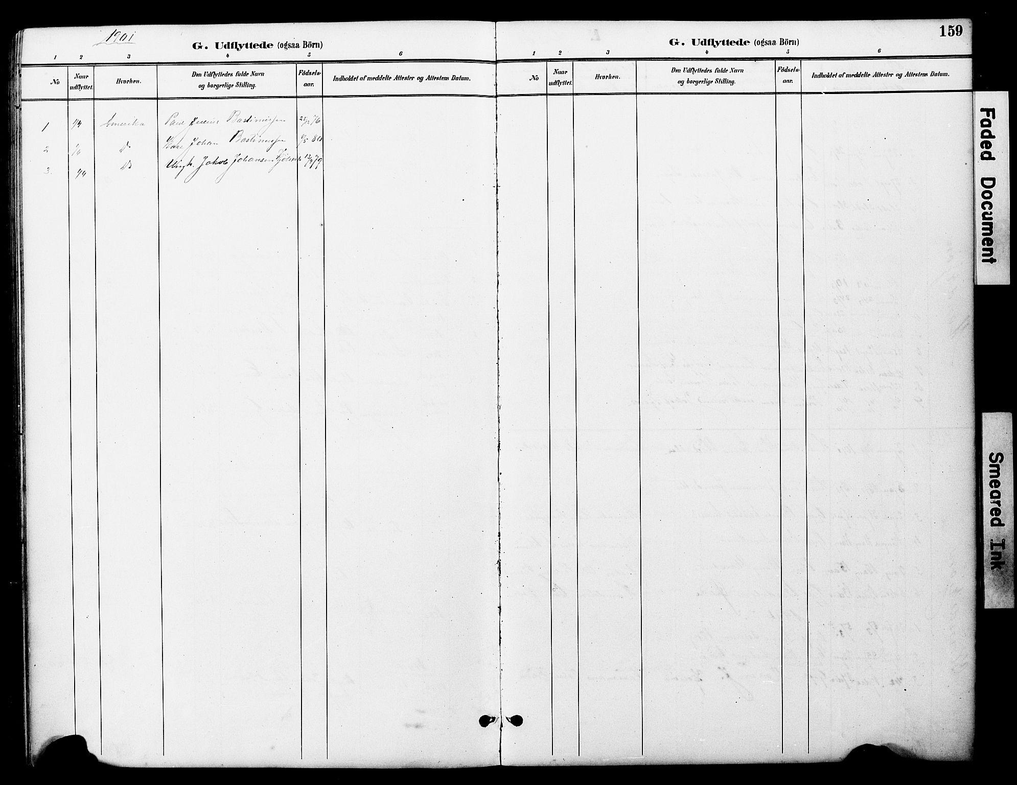 SAT, Ministerialprotokoller, klokkerbøker og fødselsregistre - Nord-Trøndelag, 722/L0226: Klokkerbok nr. 722C02, 1889-1927, s. 159