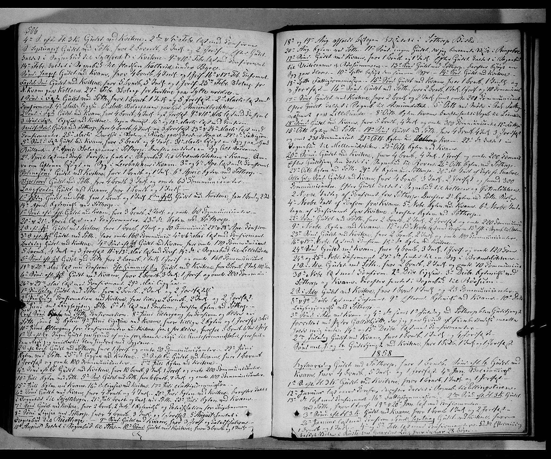 SAH, Nord-Fron prestekontor, Ministerialbok nr. 1, 1851-1864, s. 506