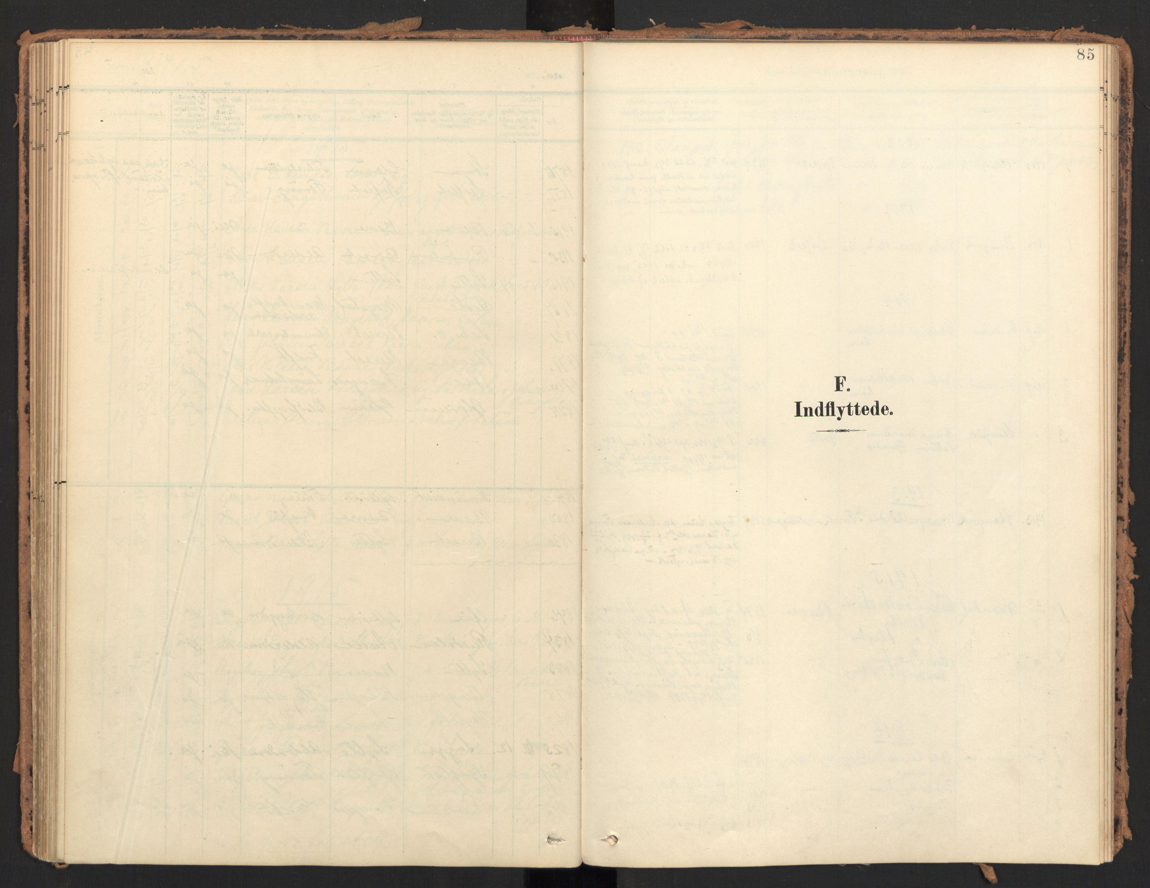 SAT, Ministerialprotokoller, klokkerbøker og fødselsregistre - Møre og Romsdal, 595/L1048: Ministerialbok nr. 595A10, 1900-1917, s. 85
