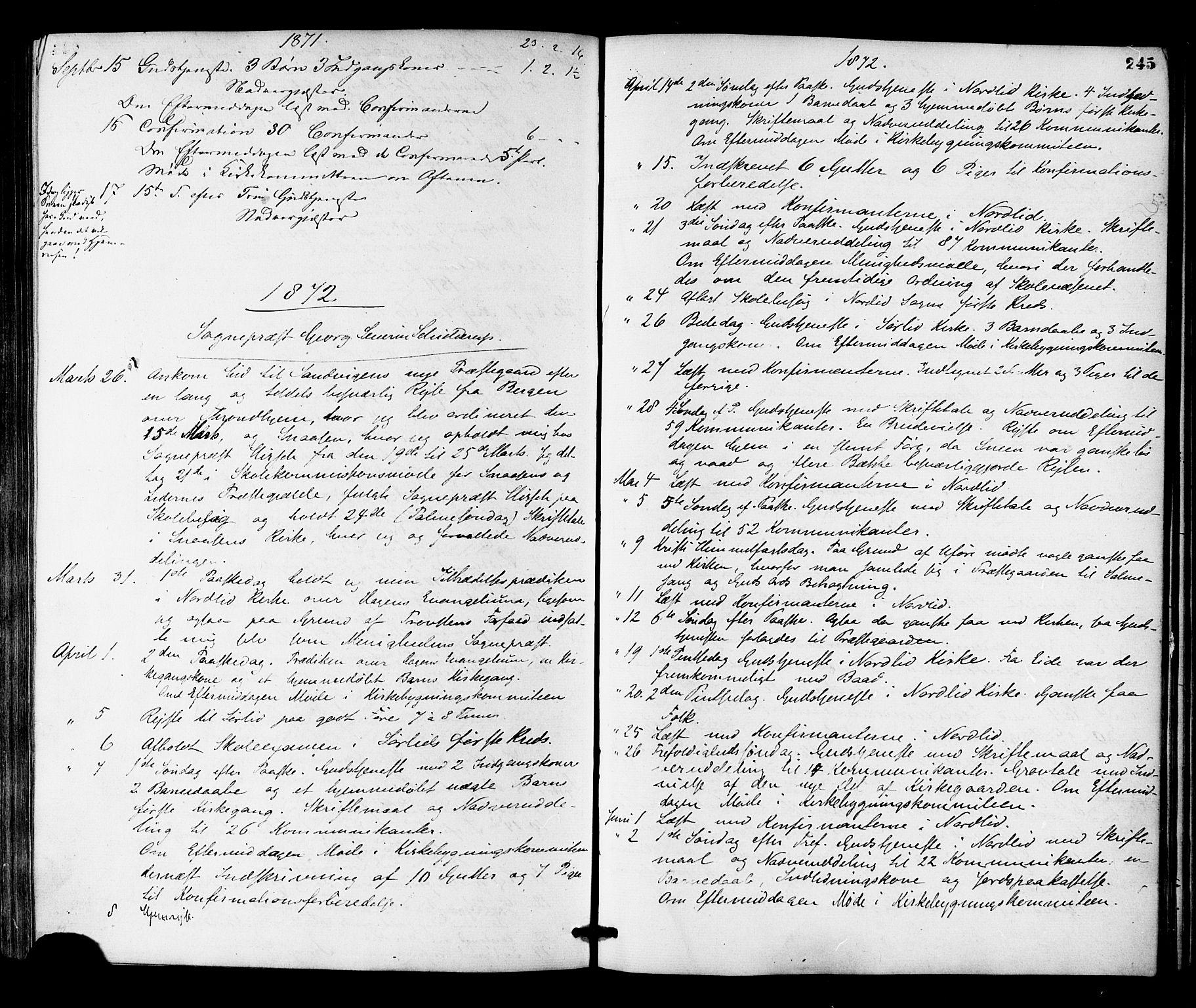 SAT, Ministerialprotokoller, klokkerbøker og fødselsregistre - Nord-Trøndelag, 755/L0493: Ministerialbok nr. 755A02, 1865-1881, s. 245