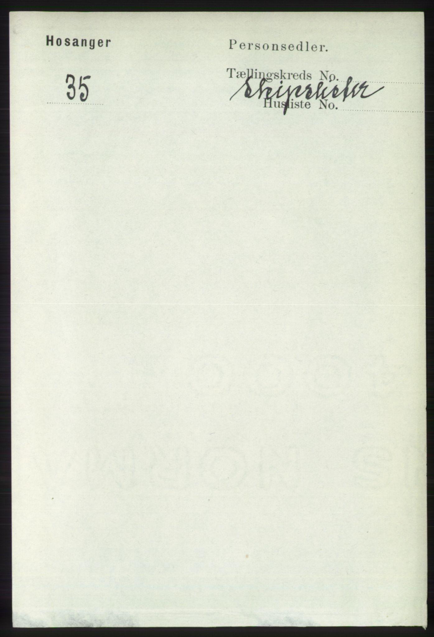 RA, Folketelling 1891 for 1253 Hosanger herred, 1891, s. 4274