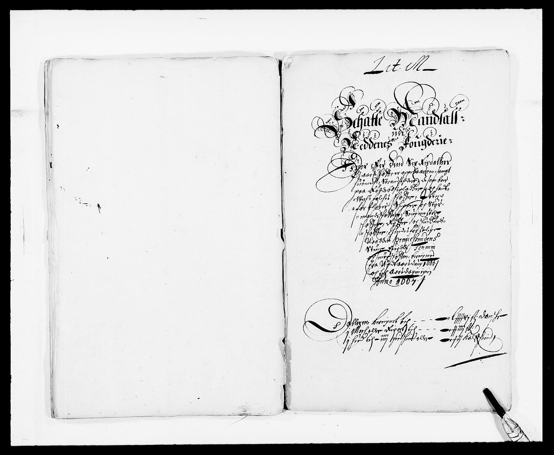 RA, Rentekammeret inntil 1814, Reviderte regnskaper, Fogderegnskap, R39/L2296: Fogderegnskap Nedenes, 1664-1666, s. 207