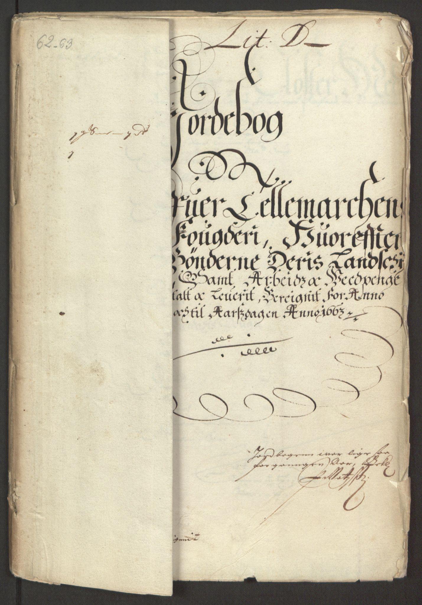 RA, Rentekammeret inntil 1814, Reviderte regnskaper, Fogderegnskap, R35/L2054: Fogderegnskap Øvre og Nedre Telemark, 1662-1663, s. 169