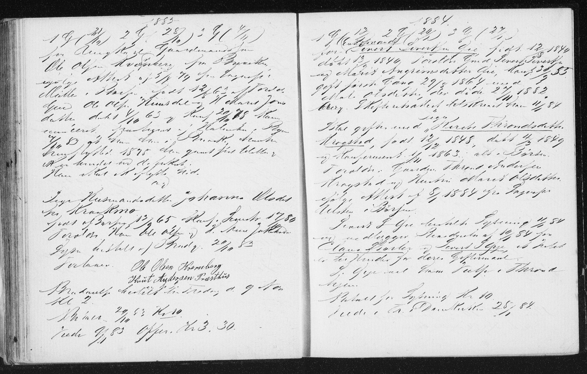SAT, Arkivreferanse ukjent**, Lysningsprotokoll nr. 691.I.1F10, 1867-1894