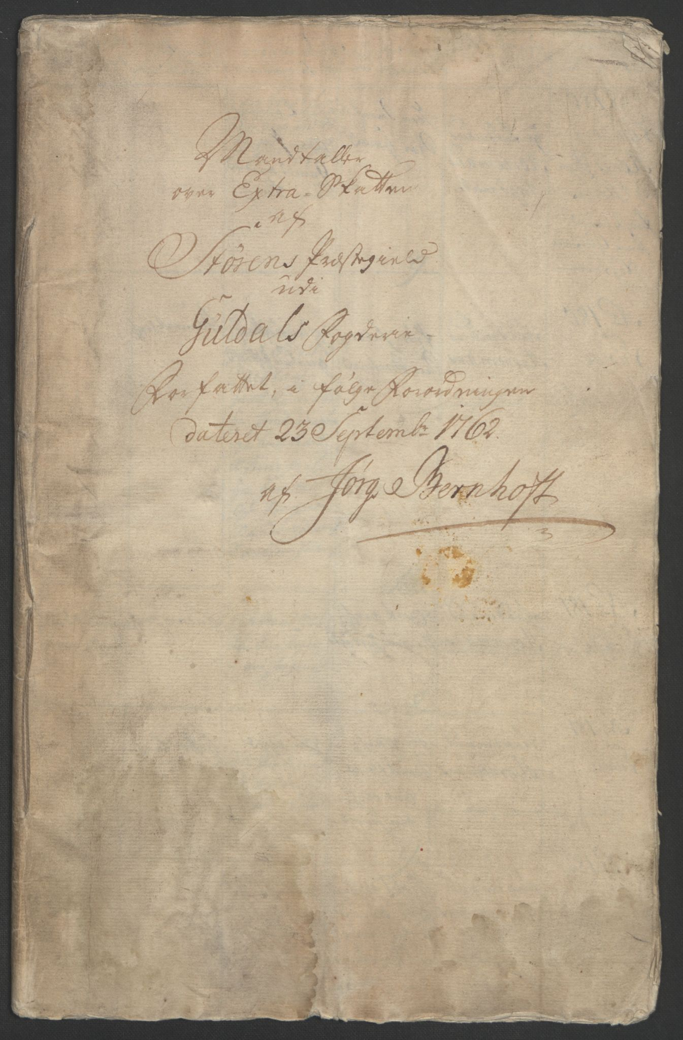 RA, Rentekammeret inntil 1814, Realistisk ordnet avdeling, Ol/L0021: [Gg 10]: Ekstraskatten, 23.09.1762. Orkdal og Gauldal, 1762-1767, s. 174