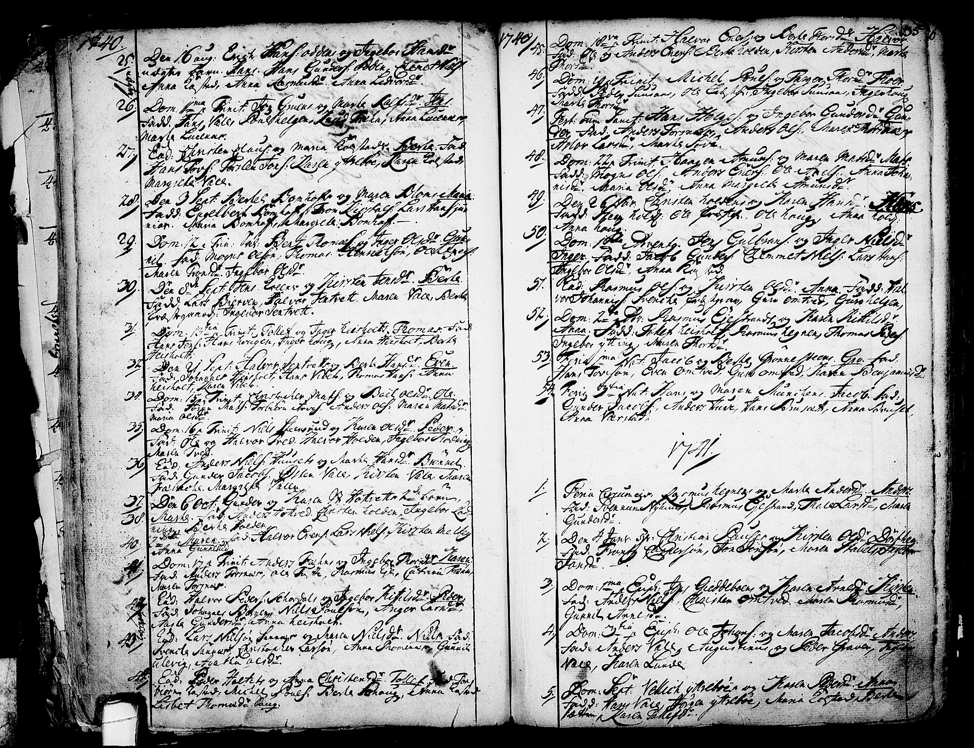 SAKO, Holla kirkebøker, F/Fa/L0001: Ministerialbok nr. 1, 1717-1779, s. 35