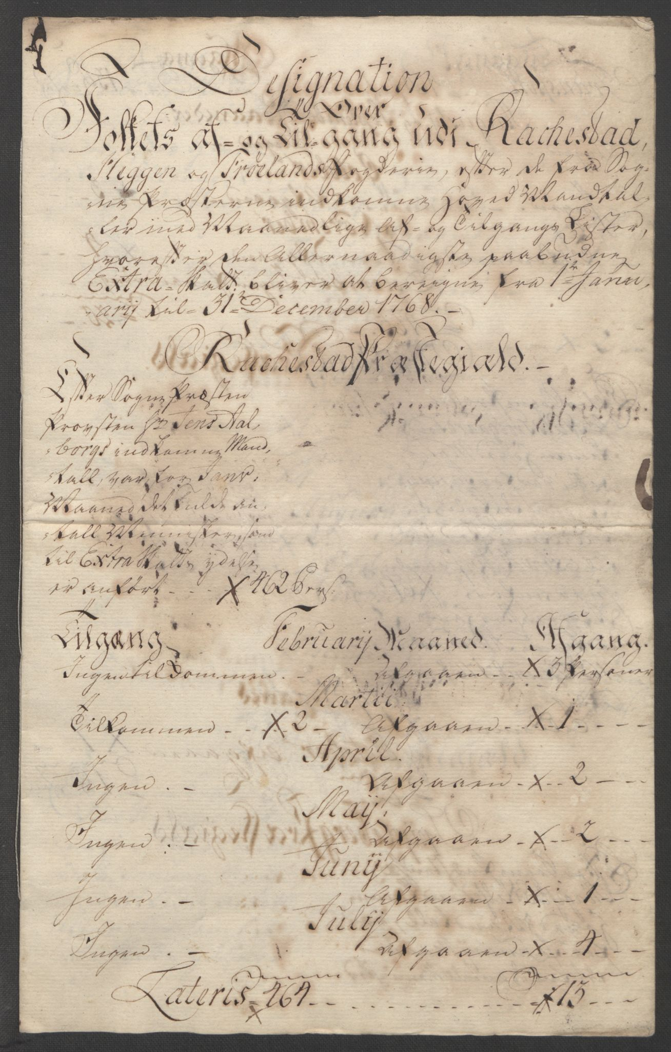 RA, Rentekammeret inntil 1814, Reviderte regnskaper, Fogderegnskap, R07/L0413: Ekstraskatten Rakkestad, Heggen og Frøland, 1762-1772, s. 377
