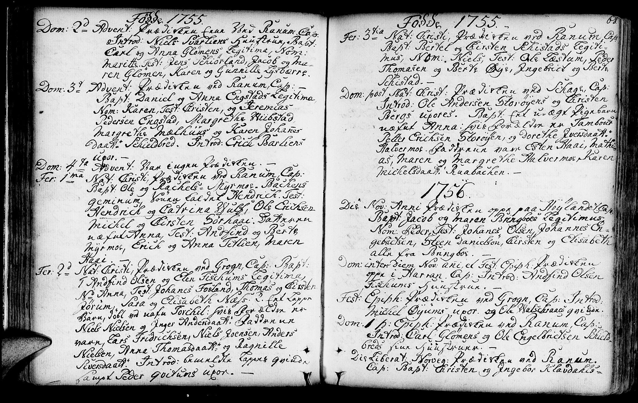 SAT, Ministerialprotokoller, klokkerbøker og fødselsregistre - Nord-Trøndelag, 764/L0542: Ministerialbok nr. 764A02, 1748-1779, s. 68