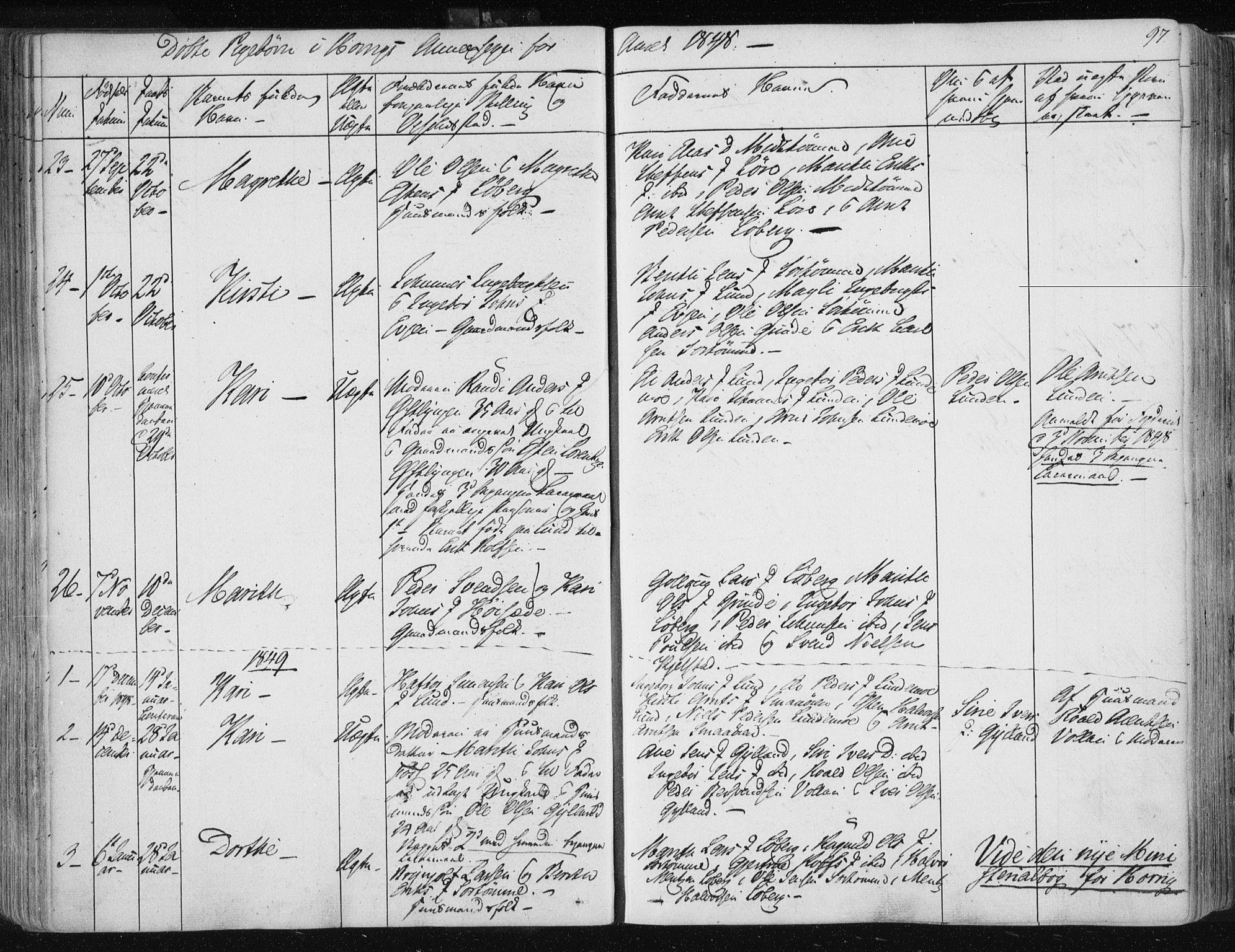 SAT, Ministerialprotokoller, klokkerbøker og fødselsregistre - Sør-Trøndelag, 687/L0998: Ministerialbok nr. 687A05 /2, 1843-1849, s. 97