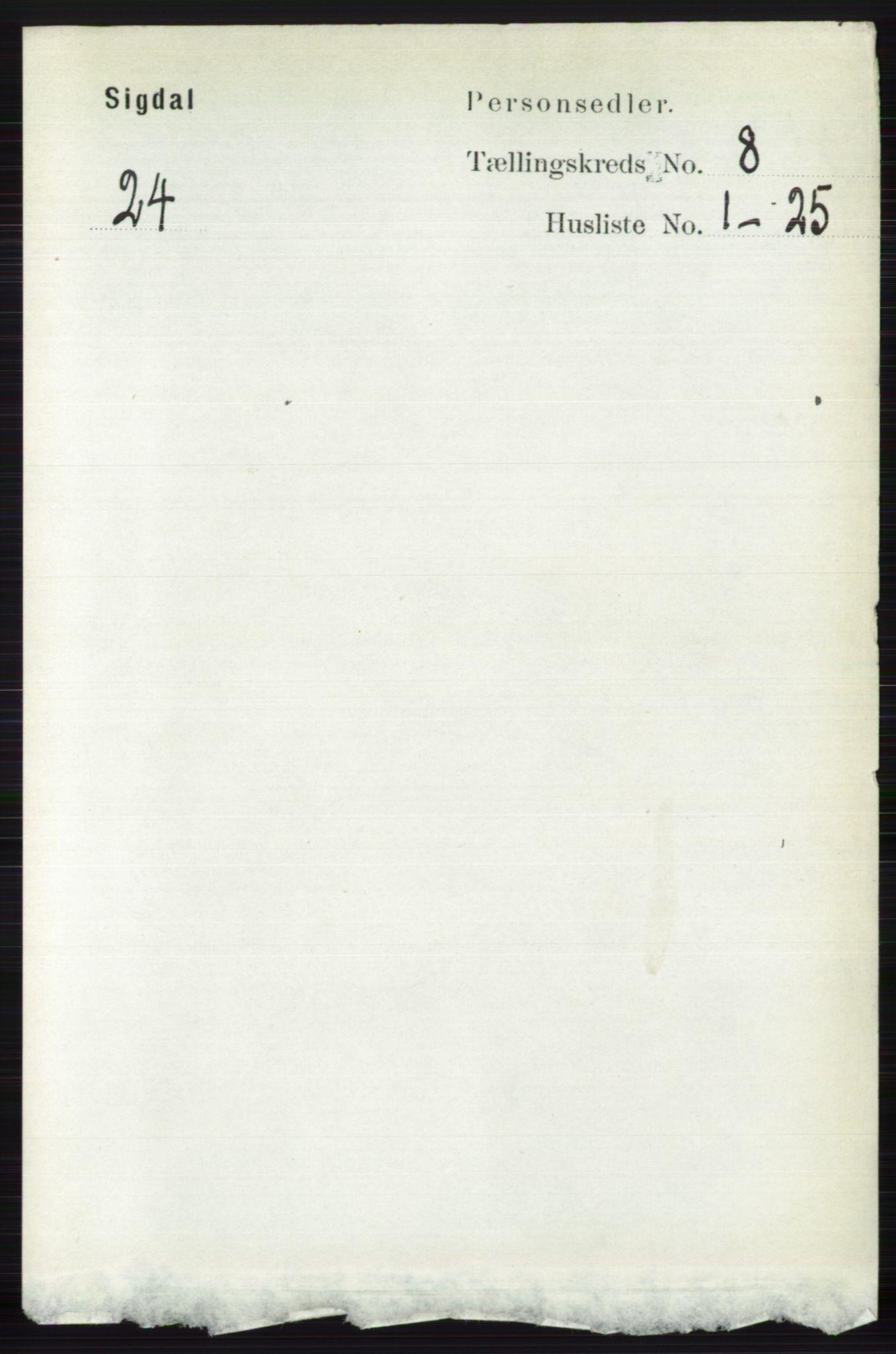 RA, Folketelling 1891 for 0621 Sigdal herred, 1891, s. 3176
