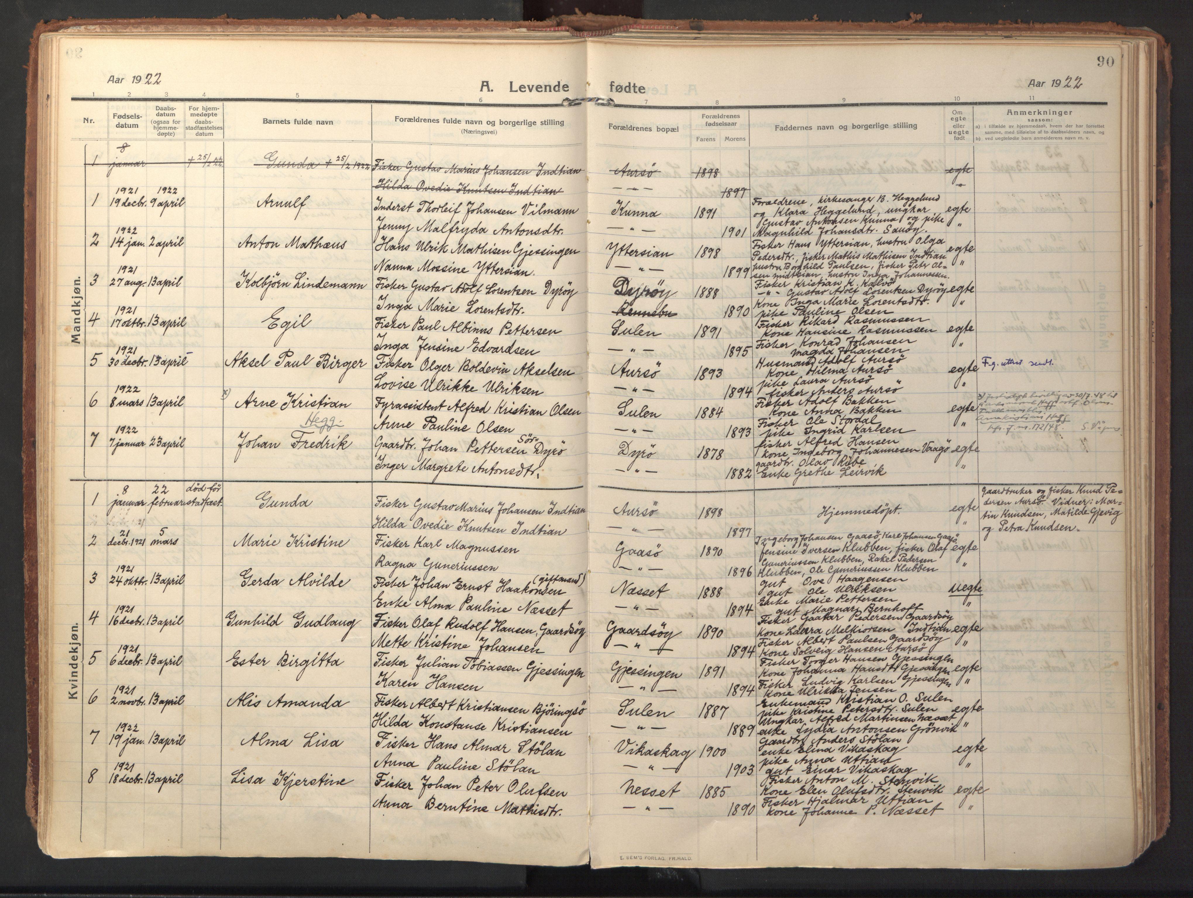 SAT, Ministerialprotokoller, klokkerbøker og fødselsregistre - Sør-Trøndelag, 640/L0581: Ministerialbok nr. 640A06, 1910-1924, s. 90