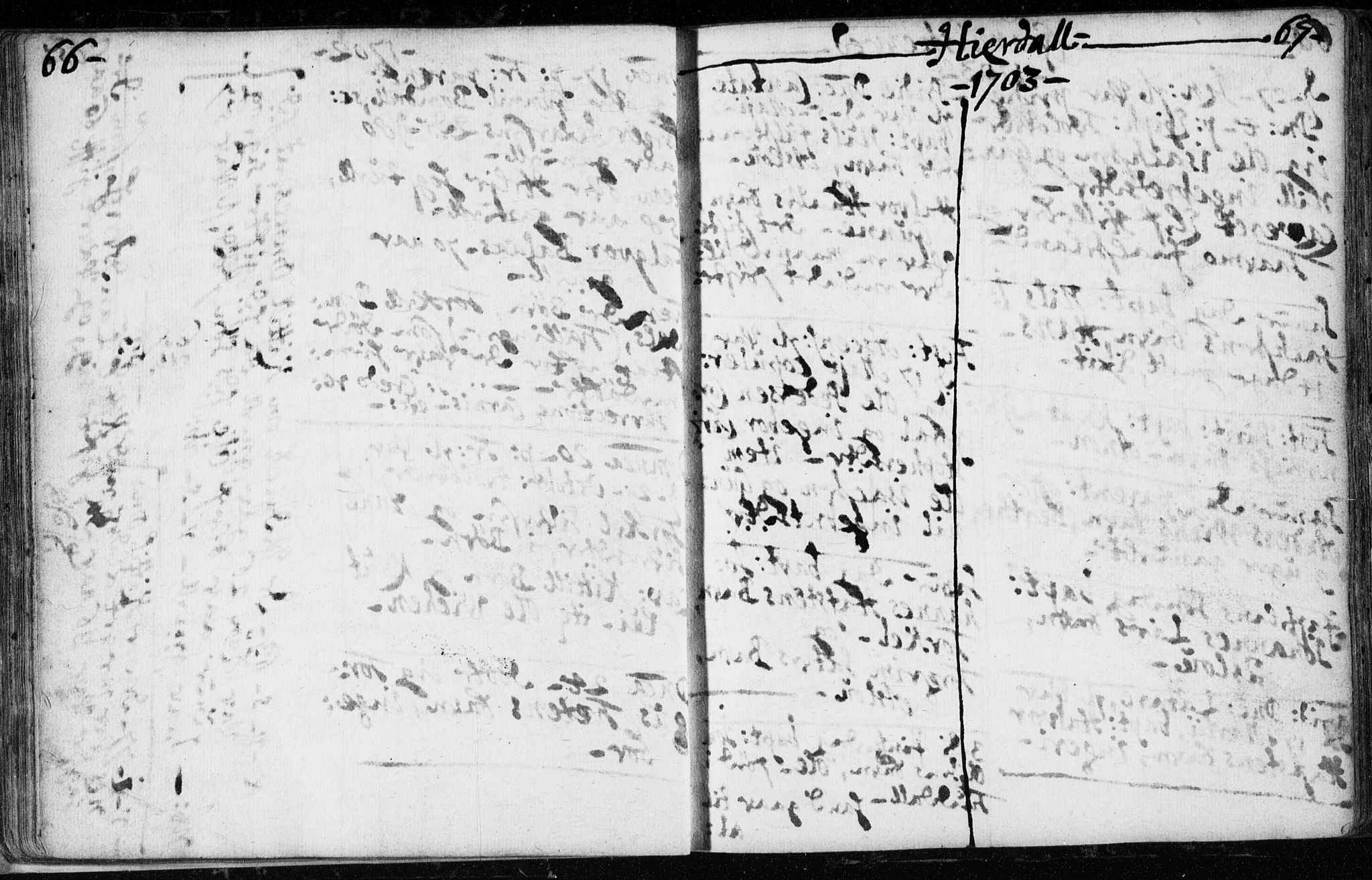 SAKO, Hjartdal kirkebøker, F/Fa/L0001: Ministerialbok nr. I 1, 1685-1714, s. 66-67