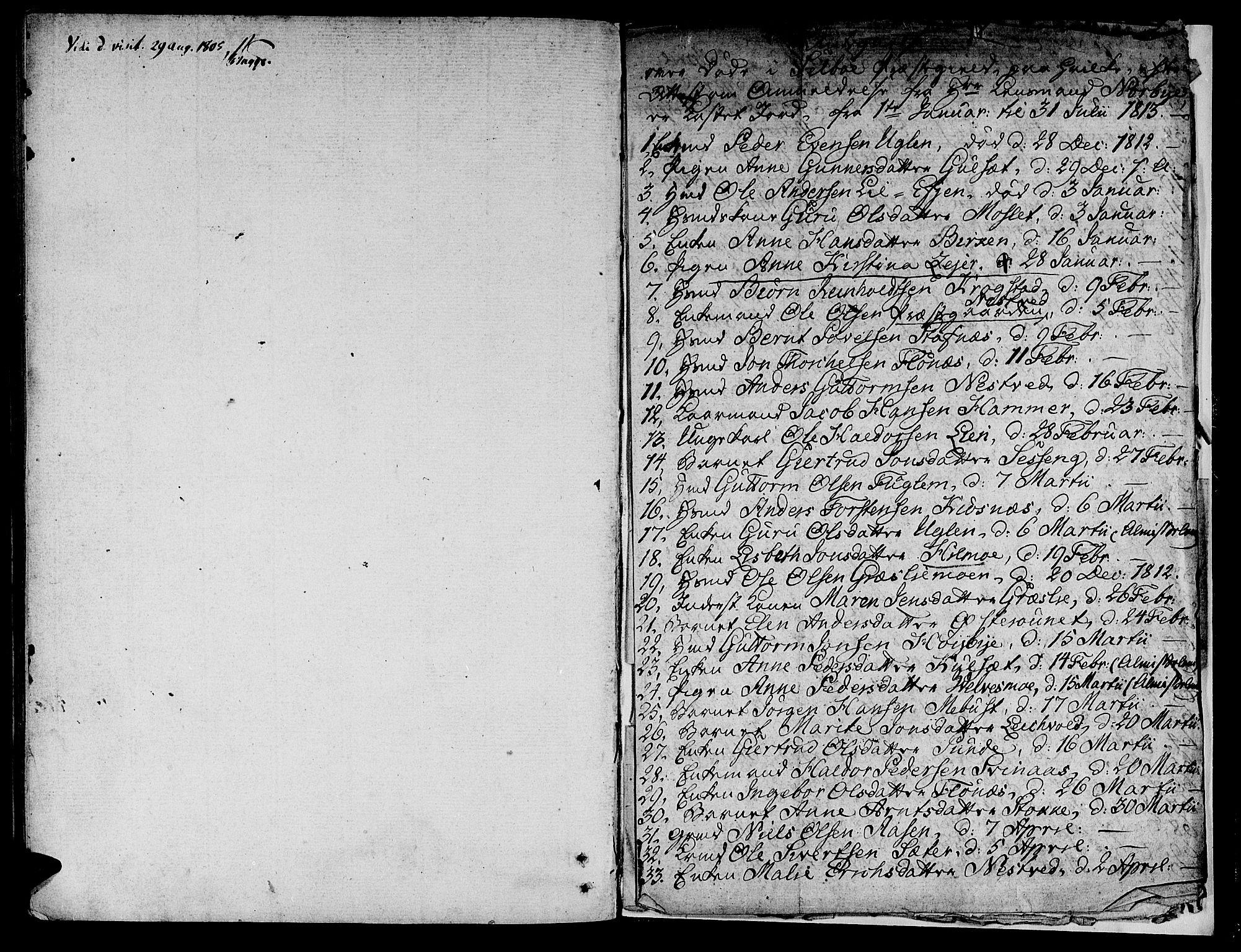 SAT, Ministerialprotokoller, klokkerbøker og fødselsregistre - Sør-Trøndelag, 695/L1140: Ministerialbok nr. 695A03, 1801-1815