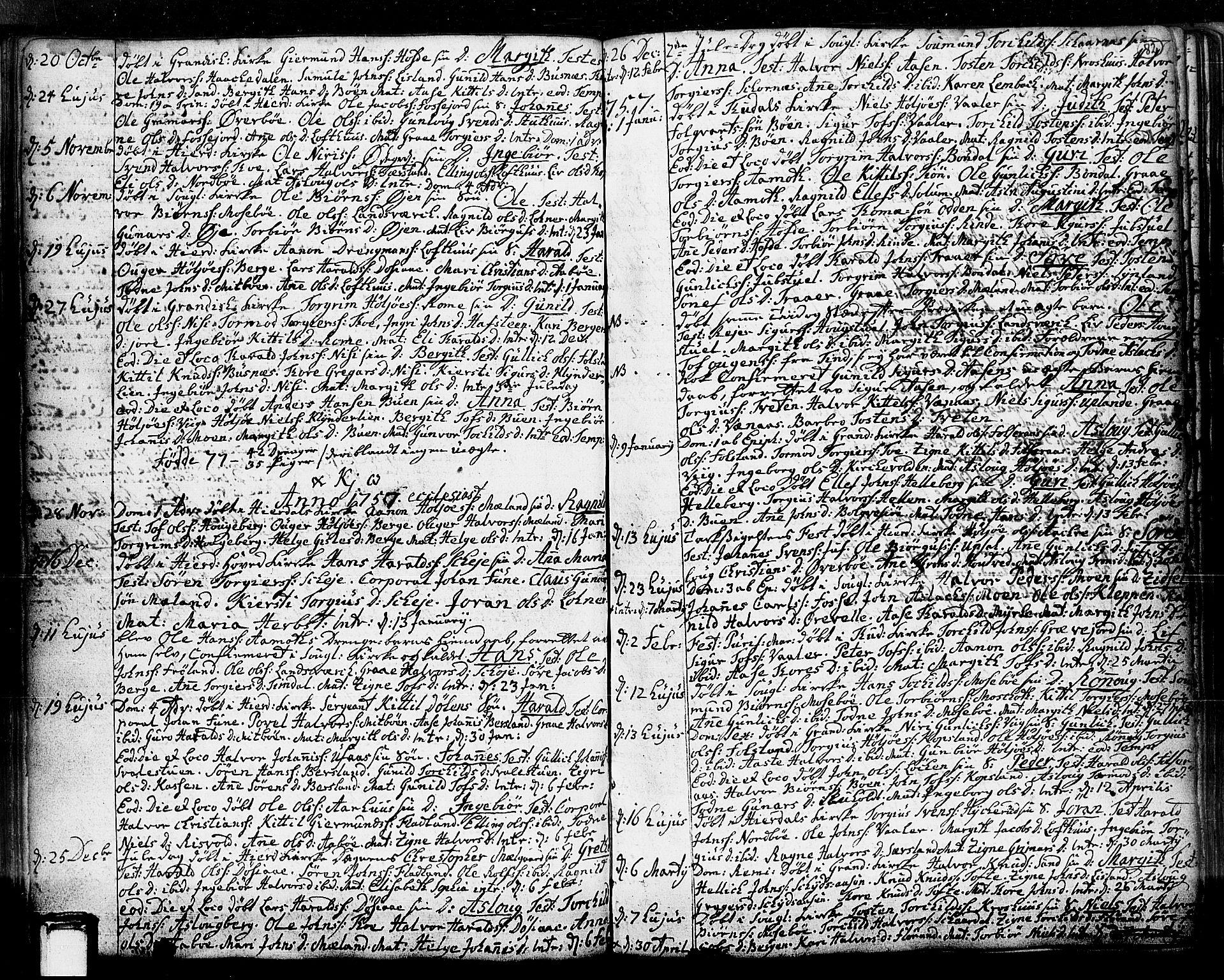 SAKO, Hjartdal kirkebøker, F/Fa/L0003: Ministerialbok nr. I 3, 1727-1775, s. 82