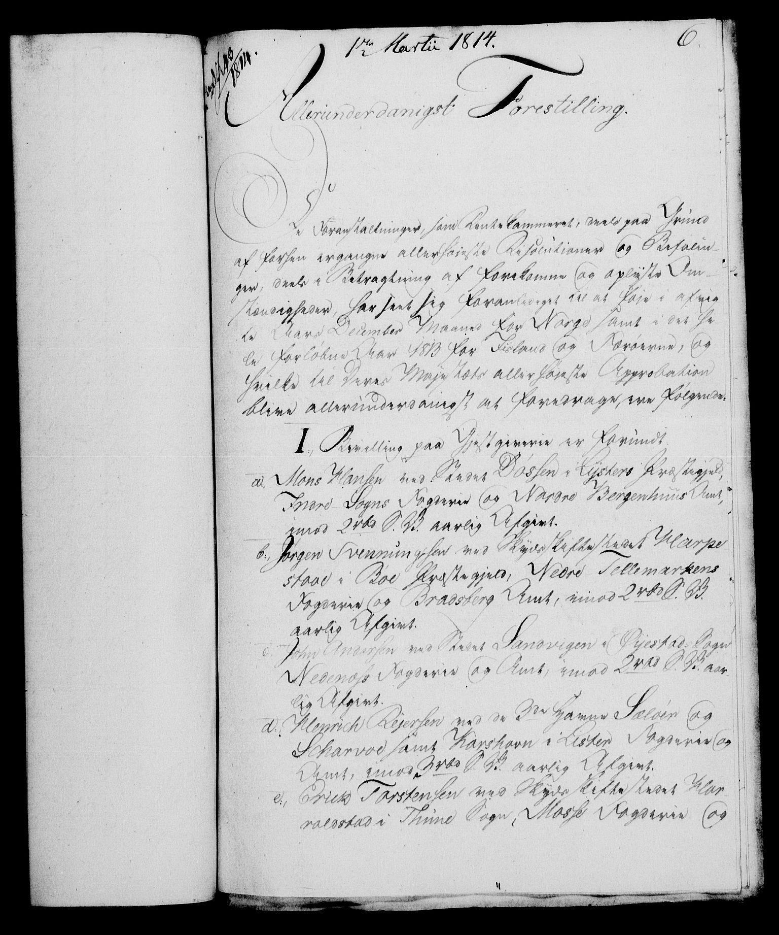 RA, Rentekammeret, Kammerkanselliet, G/Gf/Gfa/L0095: Norsk relasjons- og resolusjonsprotokoll (merket RK 52.95), 1813-1814, s. 577