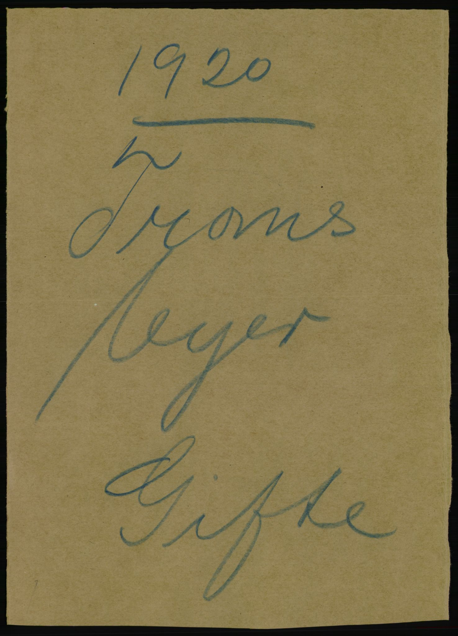 RA, Statistisk sentralbyrå, Sosiodemografiske emner, Befolkning, D/Df/Dfb/Dfbj/L0060: Troms fylke: Gifte, døde, dødfødte. Bygder og byer., 1920