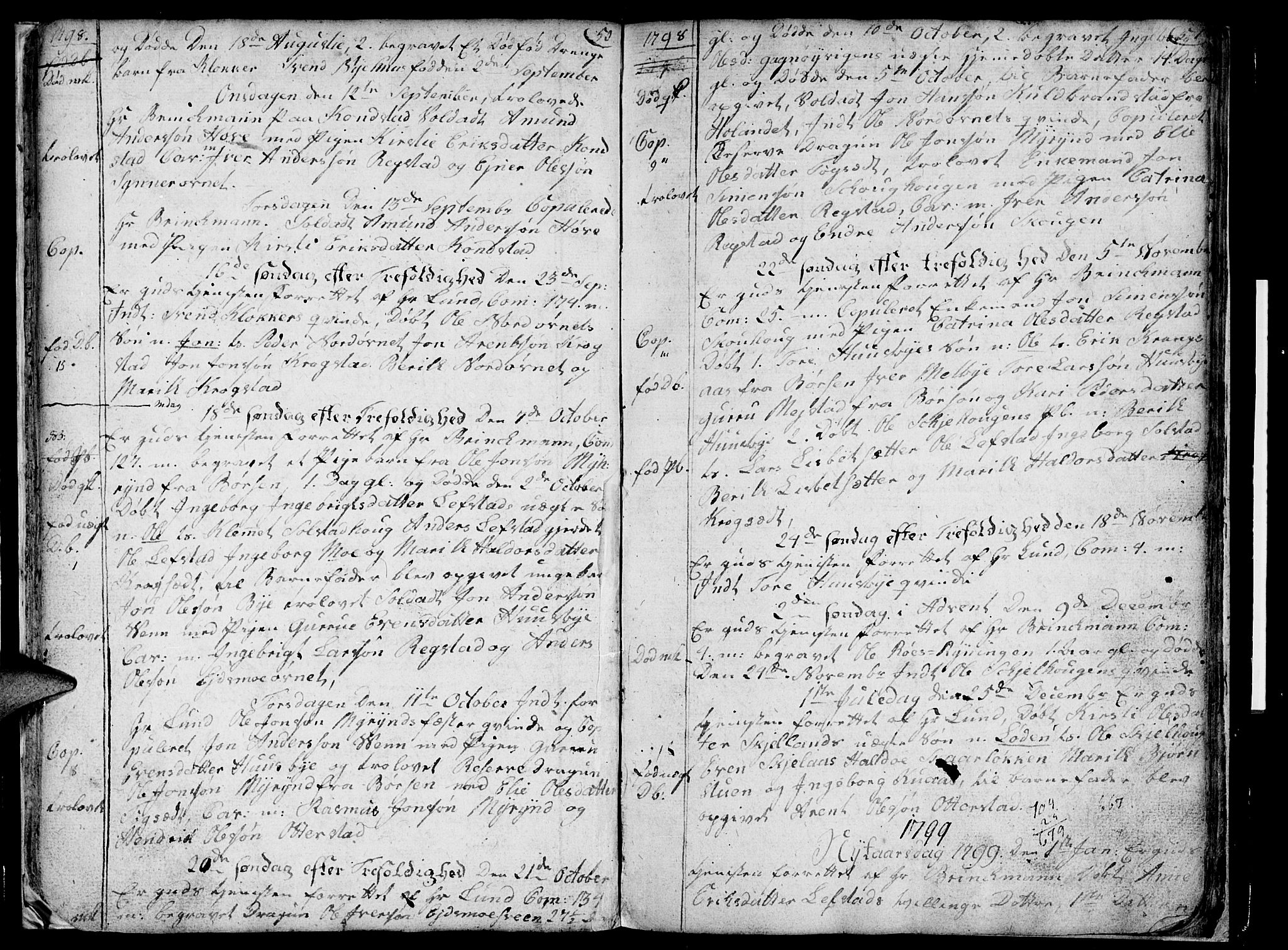 SAT, Ministerialprotokoller, klokkerbøker og fødselsregistre - Sør-Trøndelag, 667/L0794: Ministerialbok nr. 667A02, 1791-1816, s. 50-51
