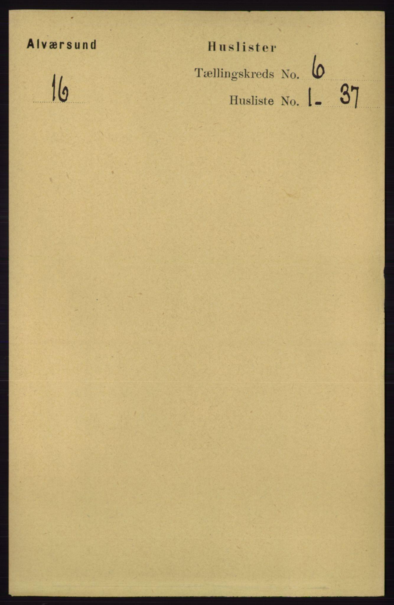 RA, Folketelling 1891 for 1257 Alversund herred, 1891, s. 2008