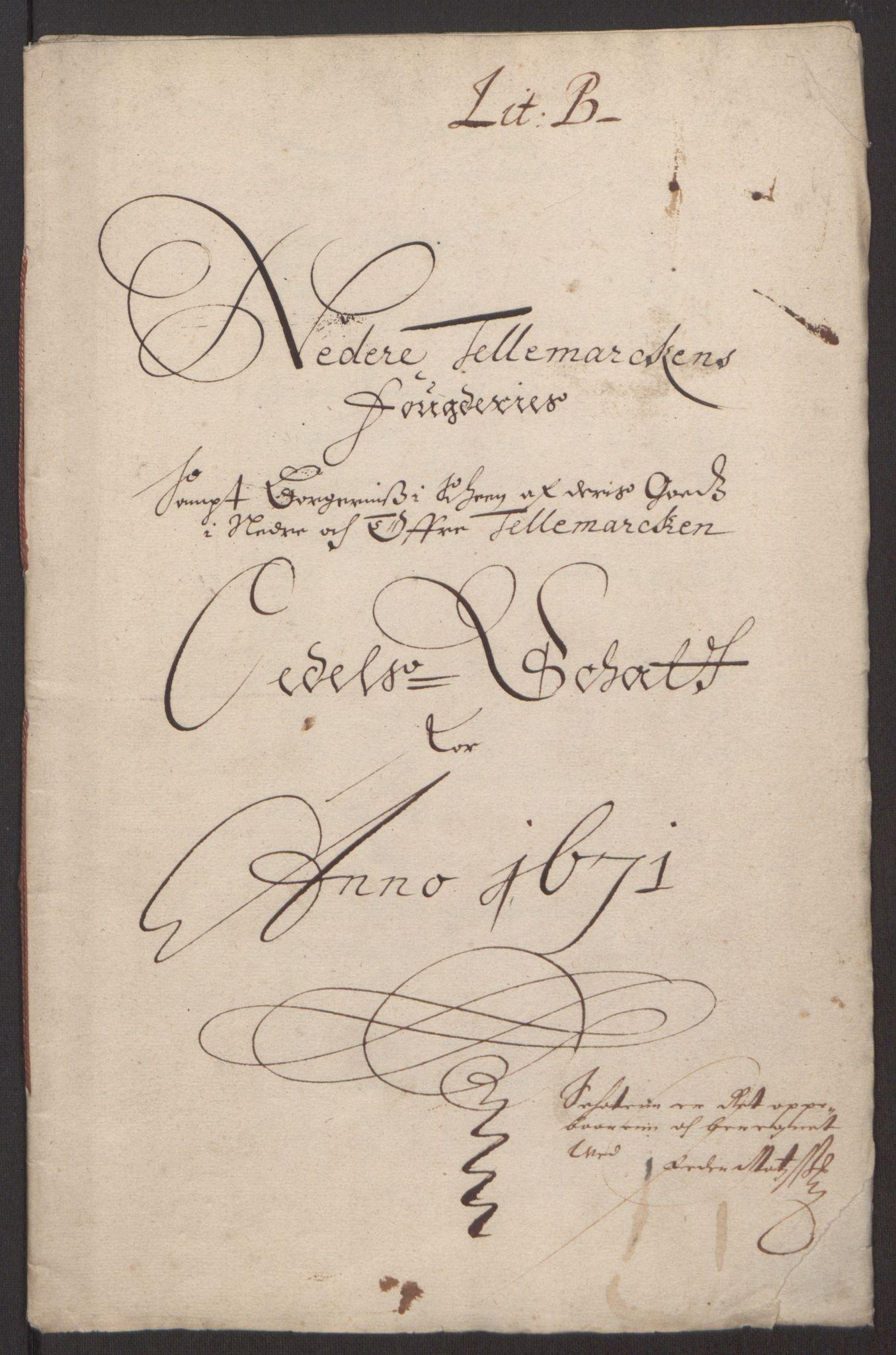 RA, Rentekammeret inntil 1814, Reviderte regnskaper, Fogderegnskap, R35/L2060: Fogderegnskap Øvre og Nedre Telemark, 1671-1672, s. 154