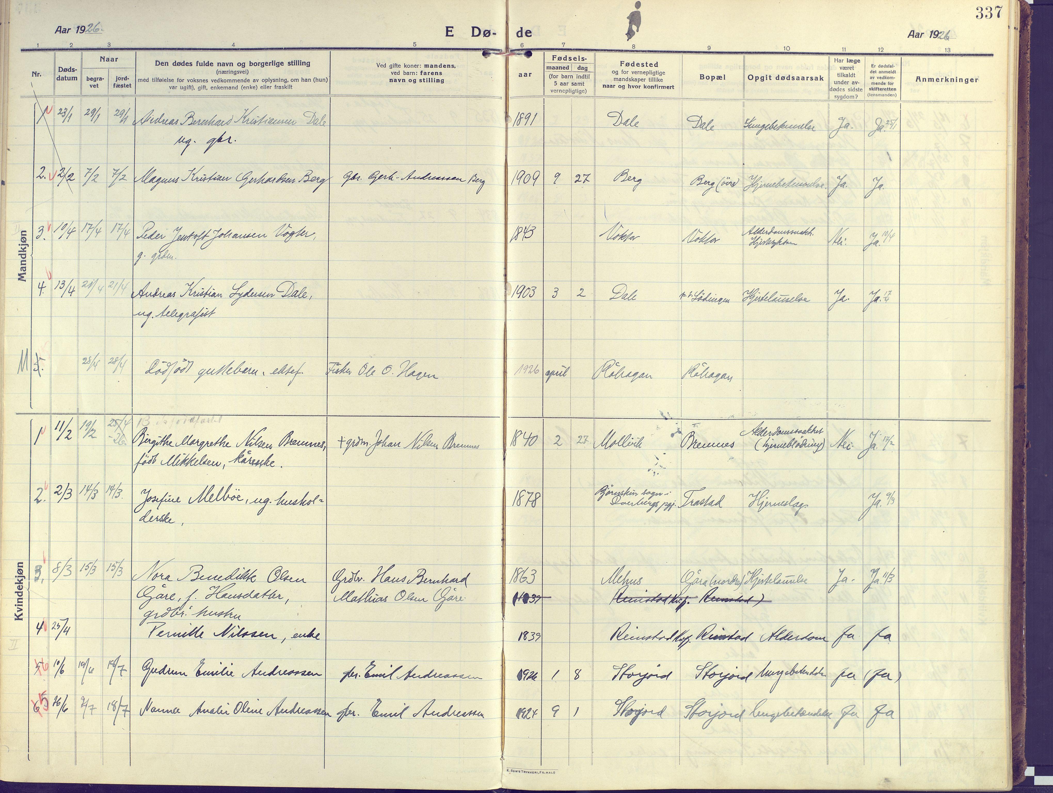 SATØ, Kvæfjord sokneprestkontor, G/Ga/Gaa/L0007kirke: Ministerialbok nr. 7, 1915-1931, s. 337