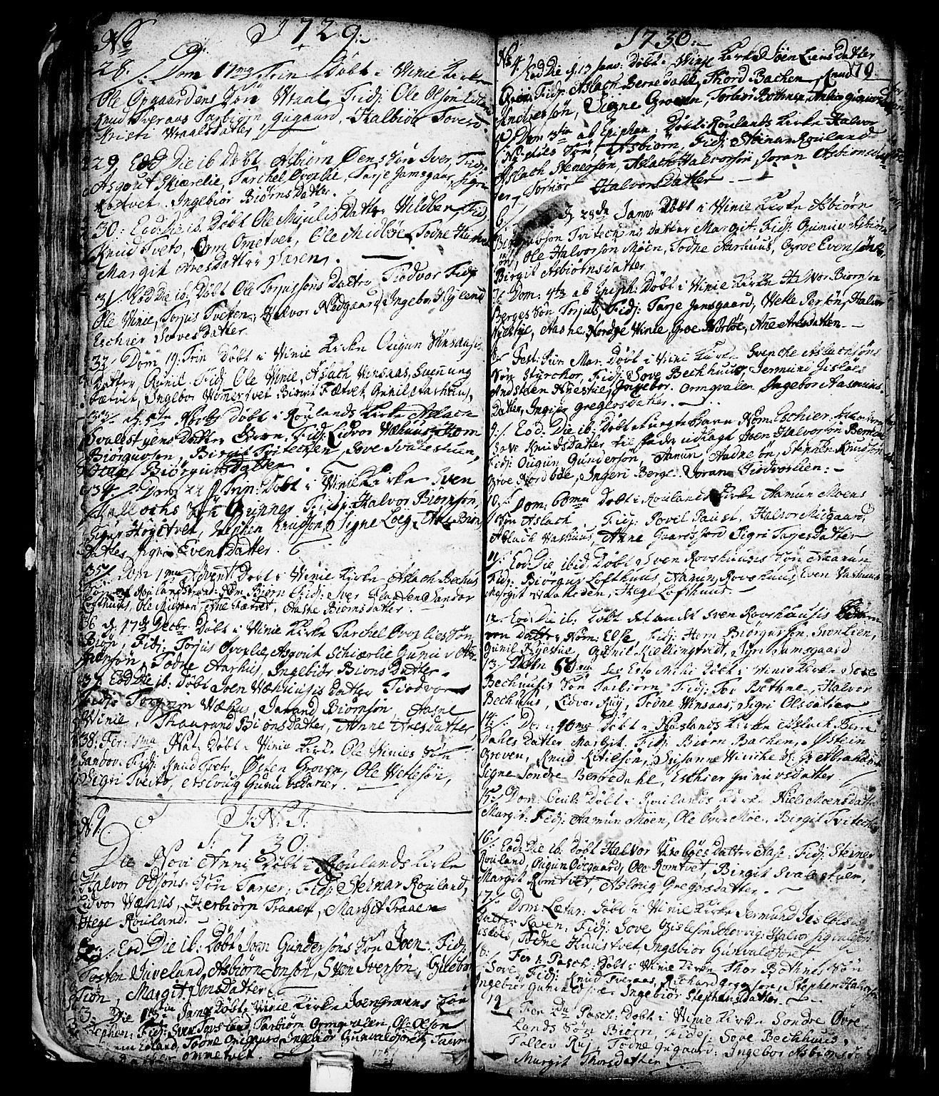 SAKO, Vinje kirkebøker, F/Fa/L0001: Ministerialbok nr. I 1, 1717-1766, s. 79