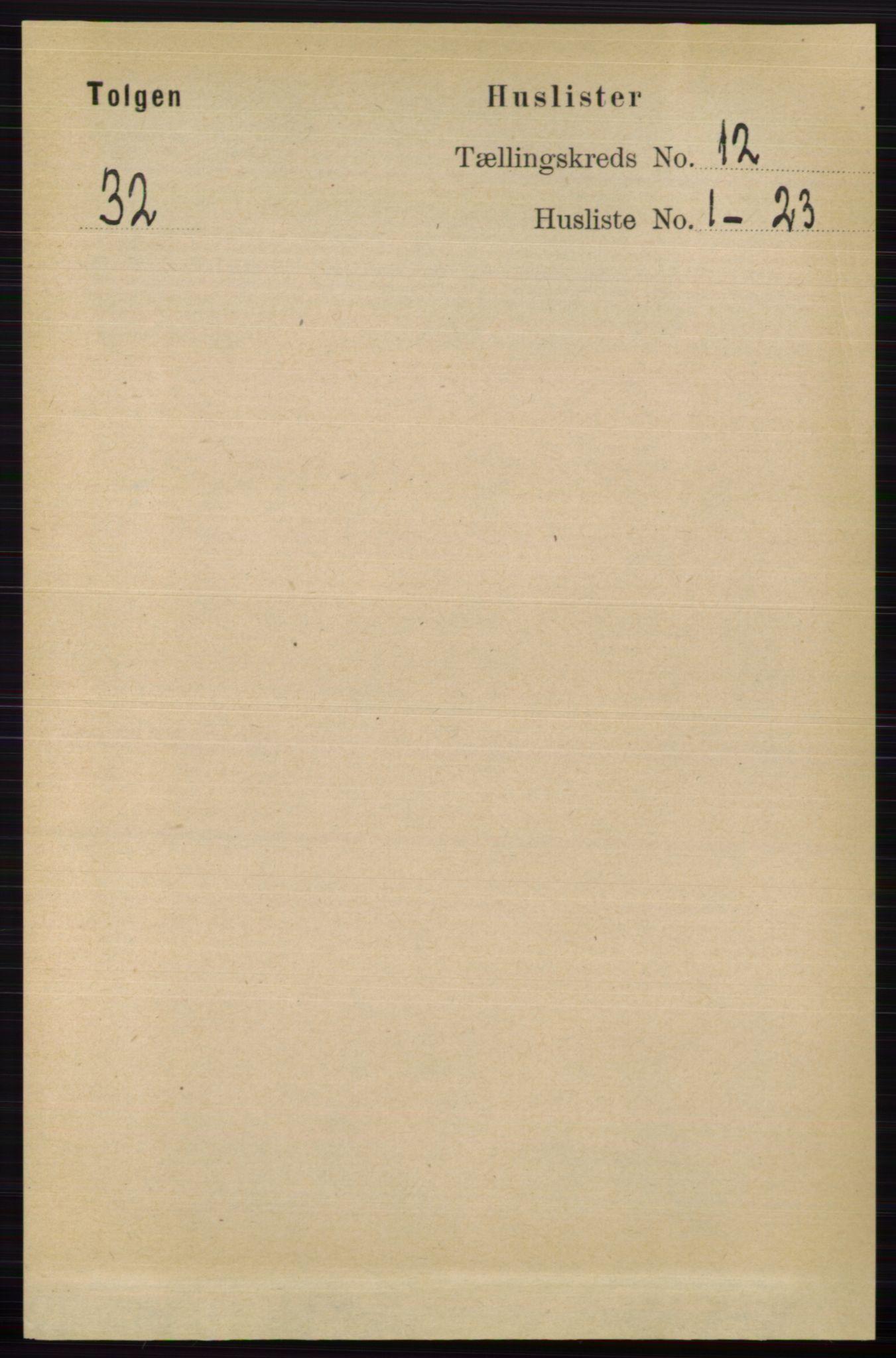 RA, Folketelling 1891 for 0436 Tolga herred, 1891, s. 3654