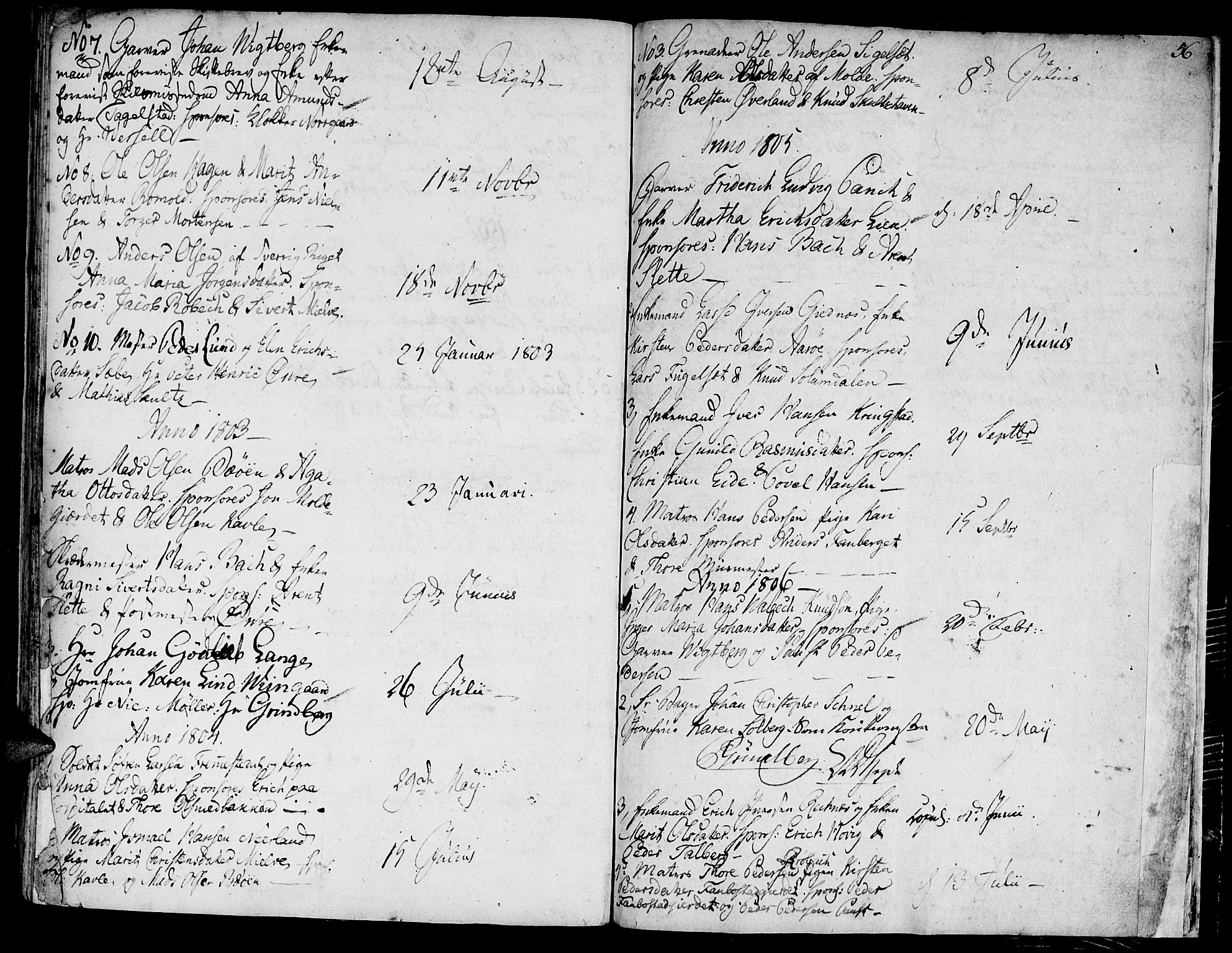 SAT, Ministerialprotokoller, klokkerbøker og fødselsregistre - Møre og Romsdal, 558/L0687: Ministerialbok nr. 558A01, 1798-1818, s. 56