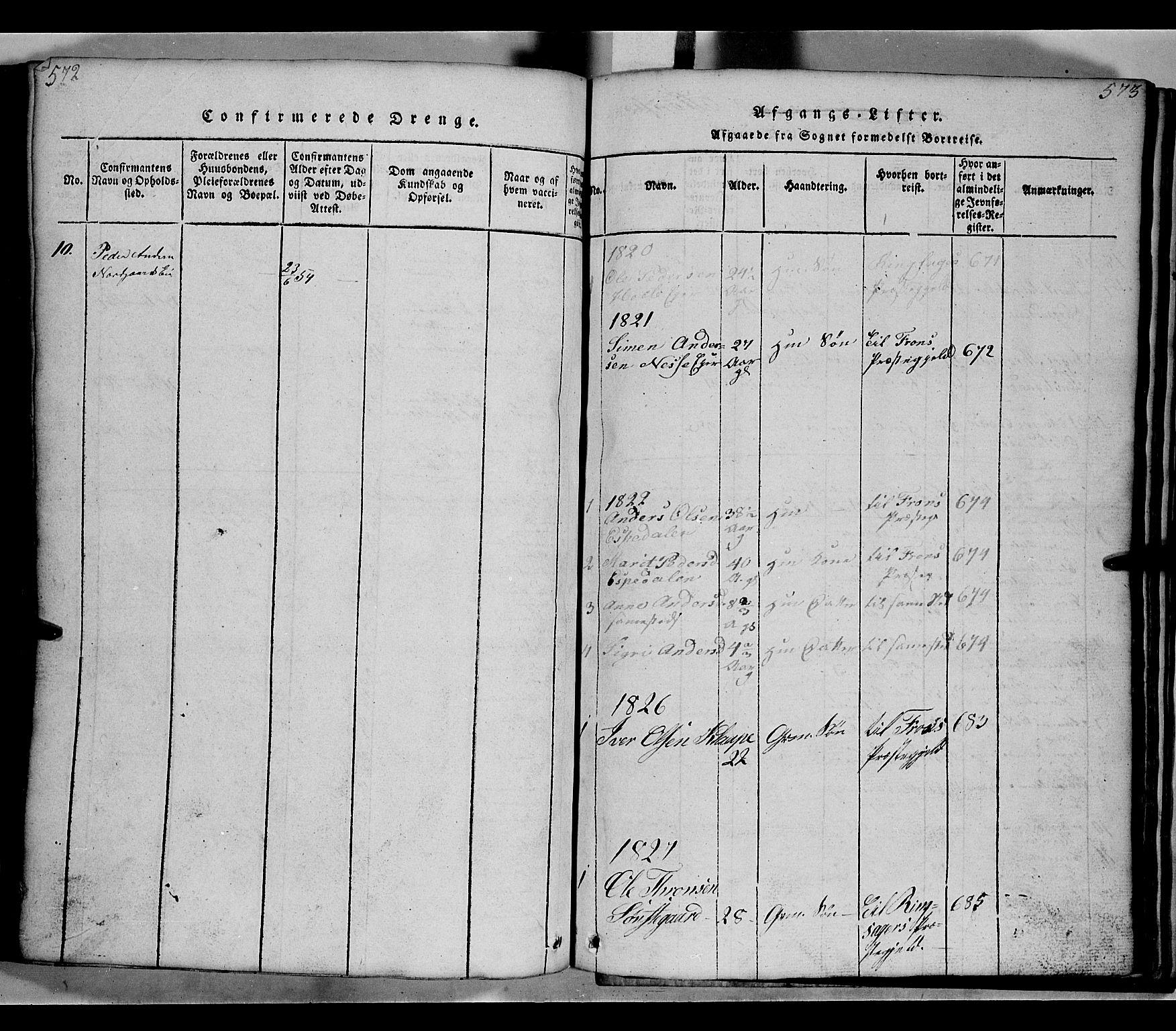 SAH, Gausdal prestekontor, Klokkerbok nr. 2, 1818-1874, s. 572-573