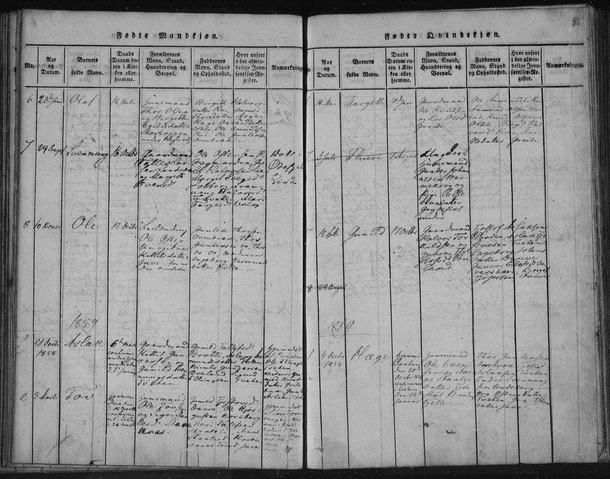 SAKO, Lårdal kirkebøker, F/Fc/L0001: Ministerialbok nr. III 1, 1815-1860, s. 82