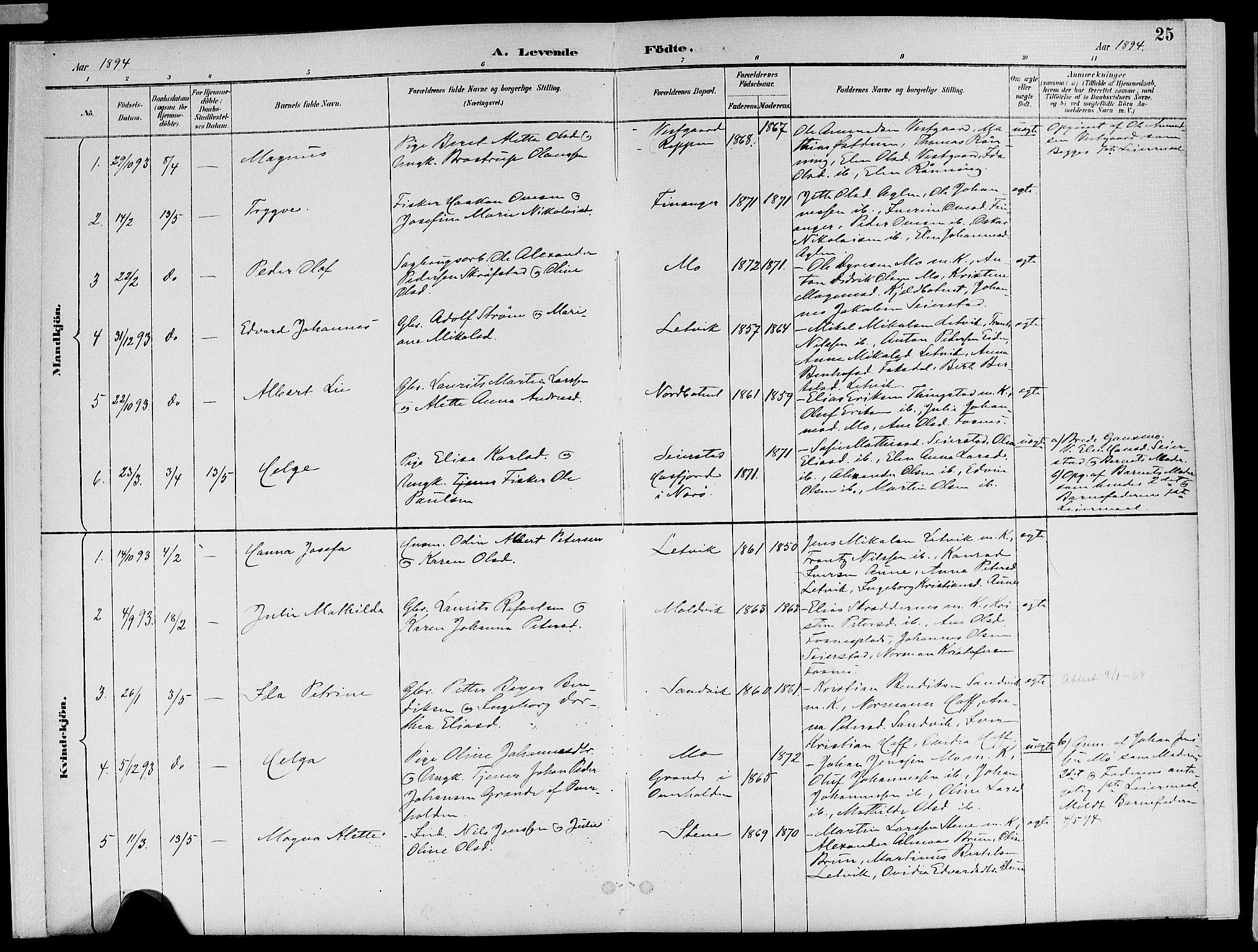 SAT, Ministerialprotokoller, klokkerbøker og fødselsregistre - Nord-Trøndelag, 773/L0617: Ministerialbok nr. 773A08, 1887-1910, s. 25