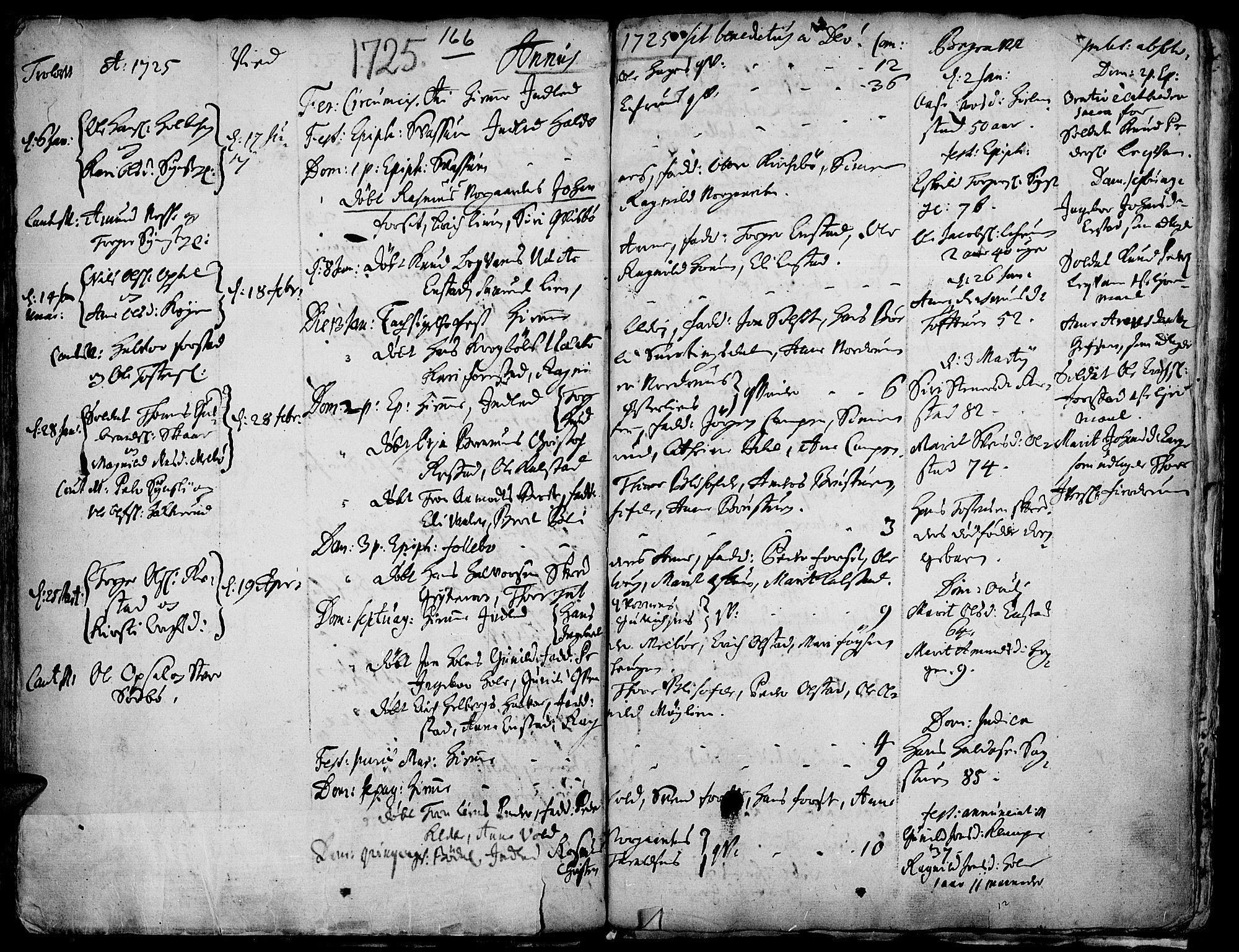 SAH, Gausdal prestekontor, Ministerialbok nr. 1, 1693-1728, s. 166
