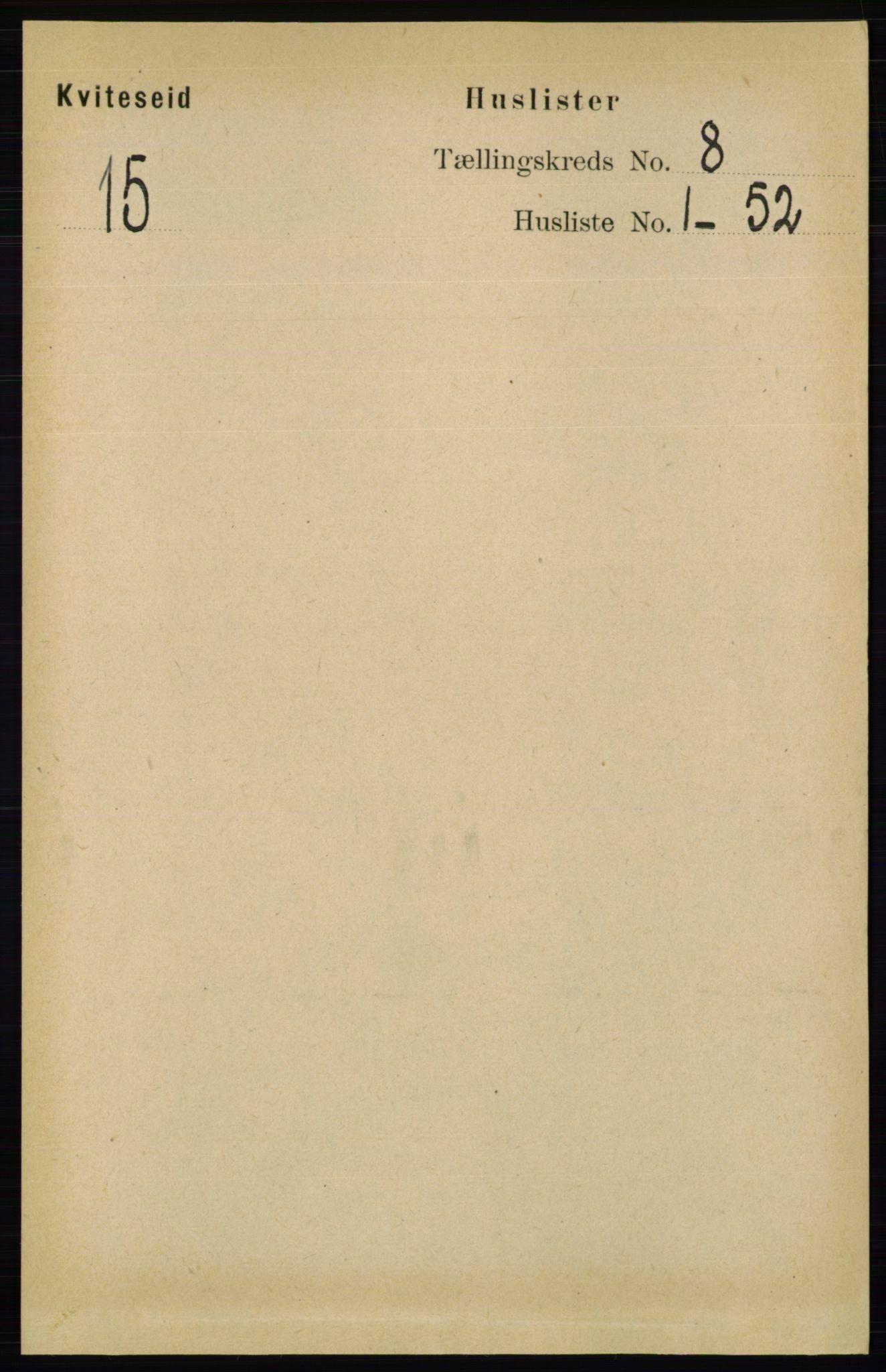 RA, Folketelling 1891 for 0829 Kviteseid herred, 1891, s. 1548