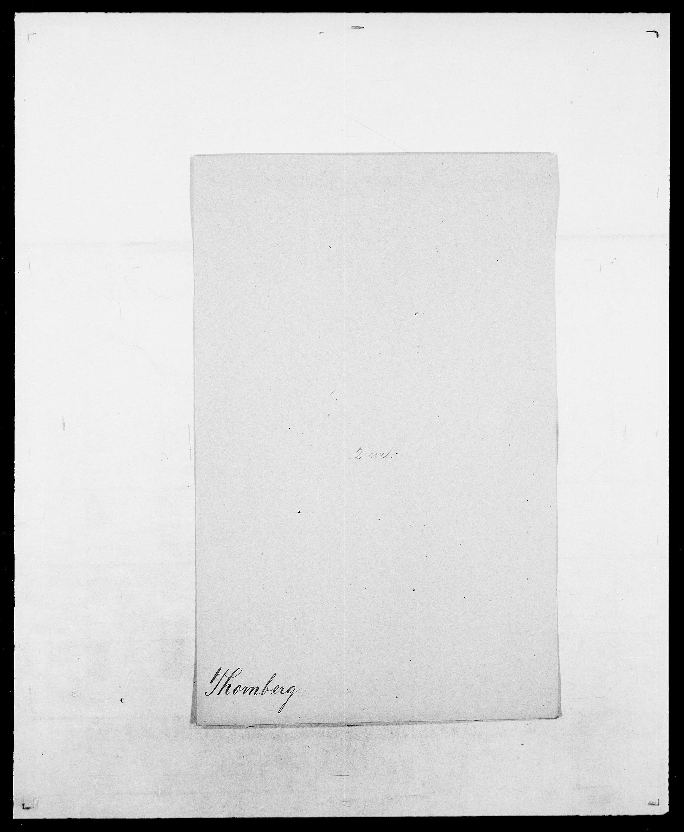 SAO, Delgobe, Charles Antoine - samling, D/Da/L0038: Svanenskjold - Thornsohn, s. 886