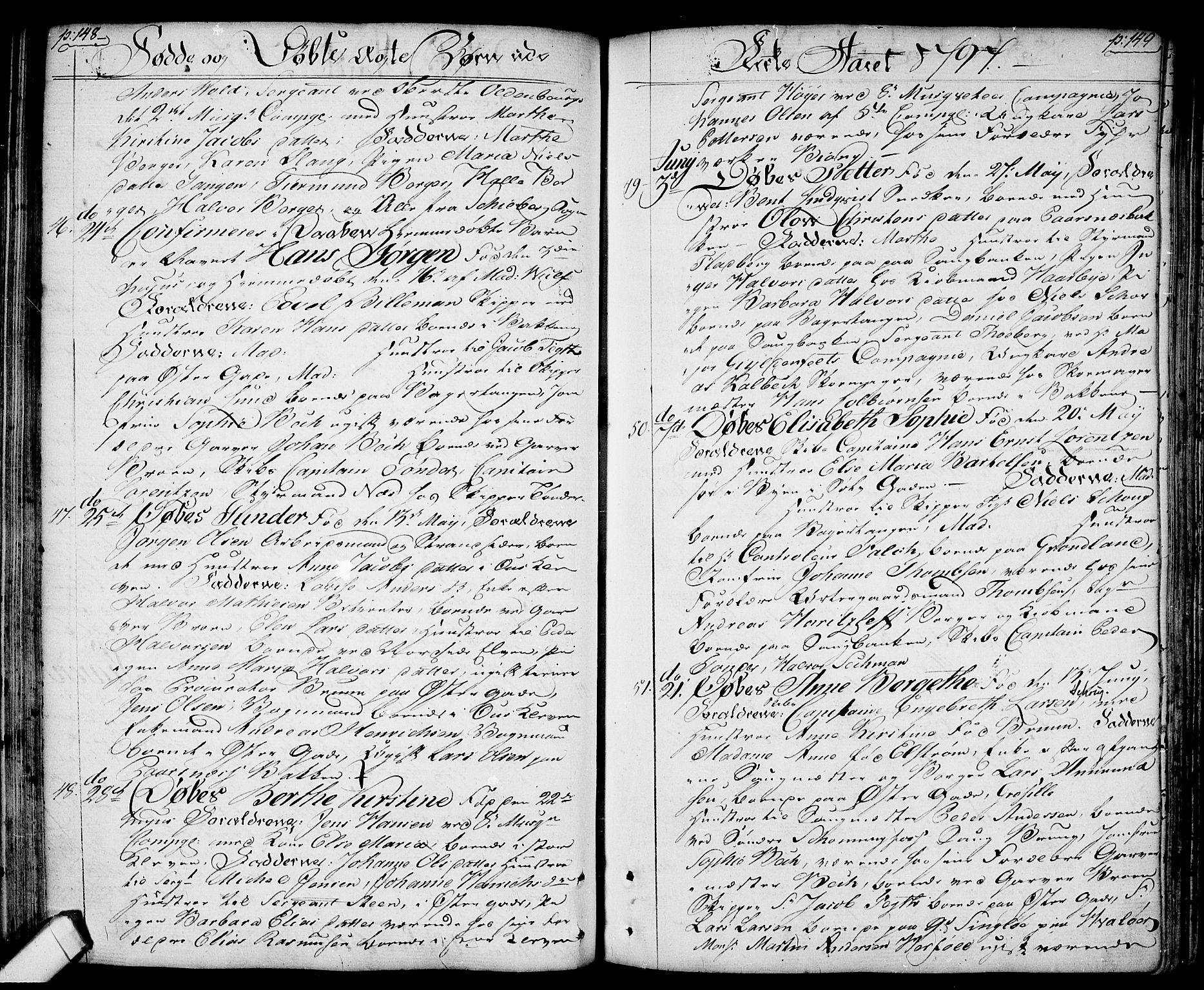 SAO, Halden prestekontor Kirkebøker, F/Fa/L0002: Ministerialbok nr. I 2, 1792-1812, s. 148-149