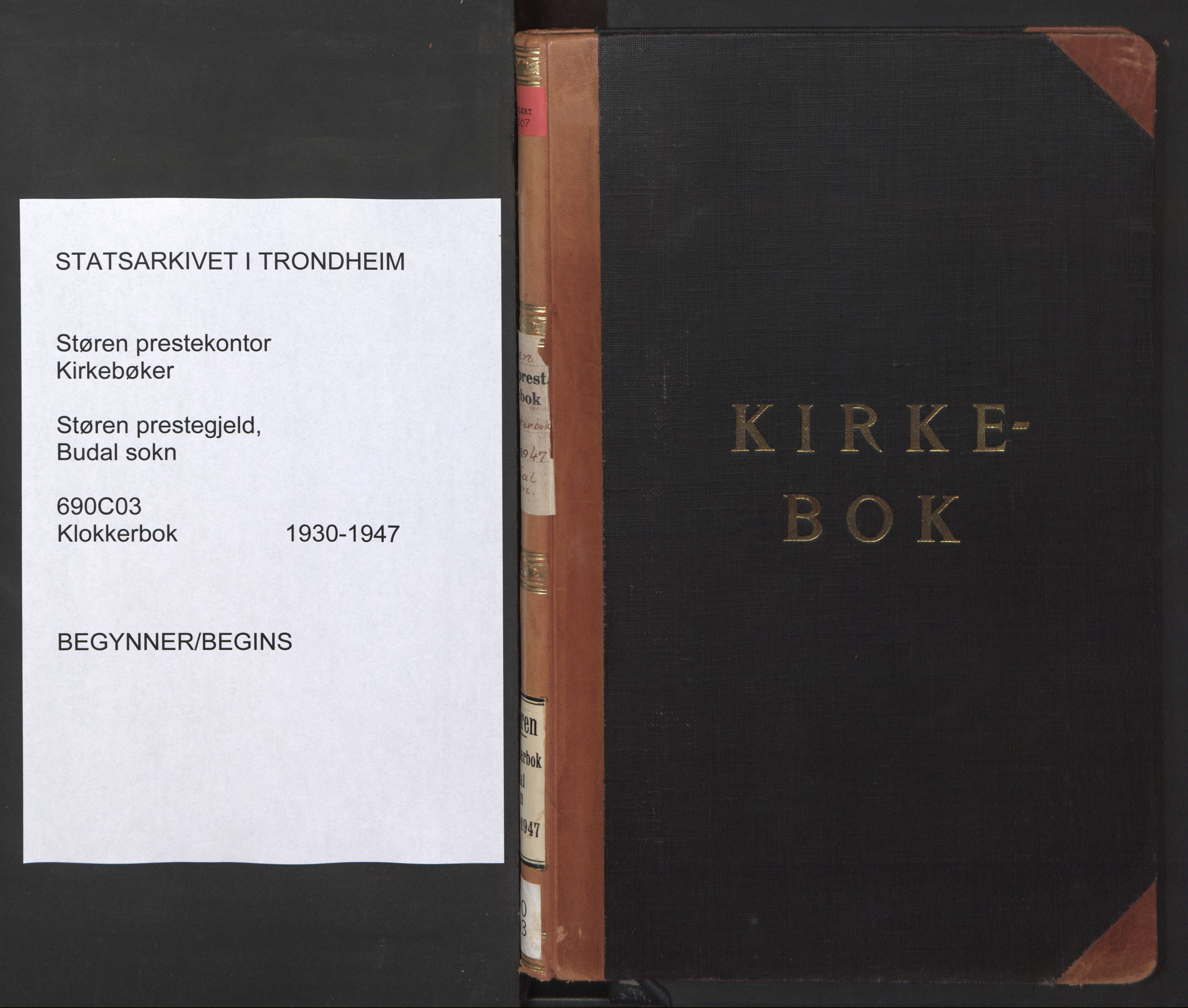 SAT, Ministerialprotokoller, klokkerbøker og fødselsregistre - Sør-Trøndelag, 690/L1053: Klokkerbok nr. 690C03, 1930-1947