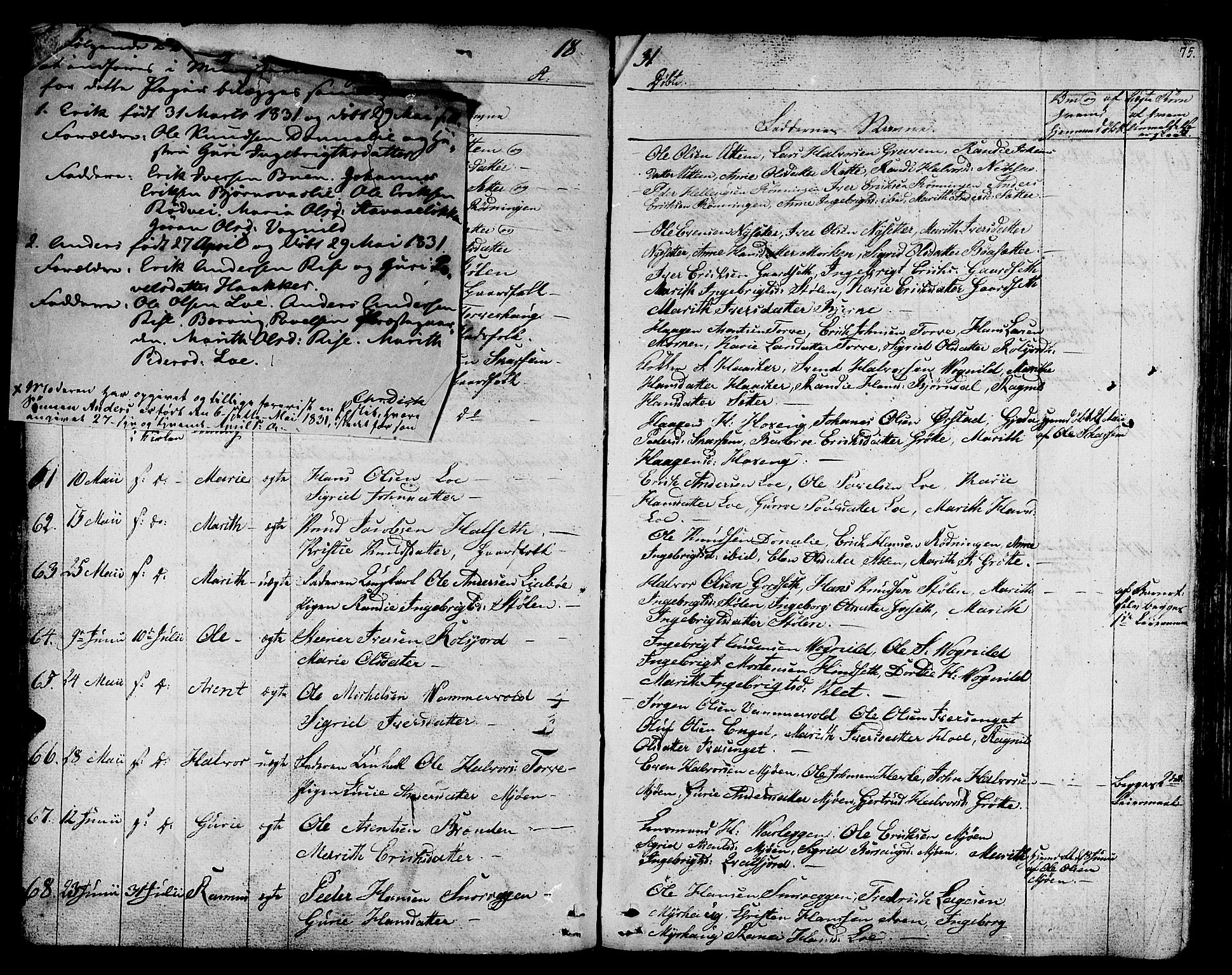 SAT, Ministerialprotokoller, klokkerbøker og fødselsregistre - Sør-Trøndelag, 678/L0897: Ministerialbok nr. 678A06-07, 1821-1847, s. 75