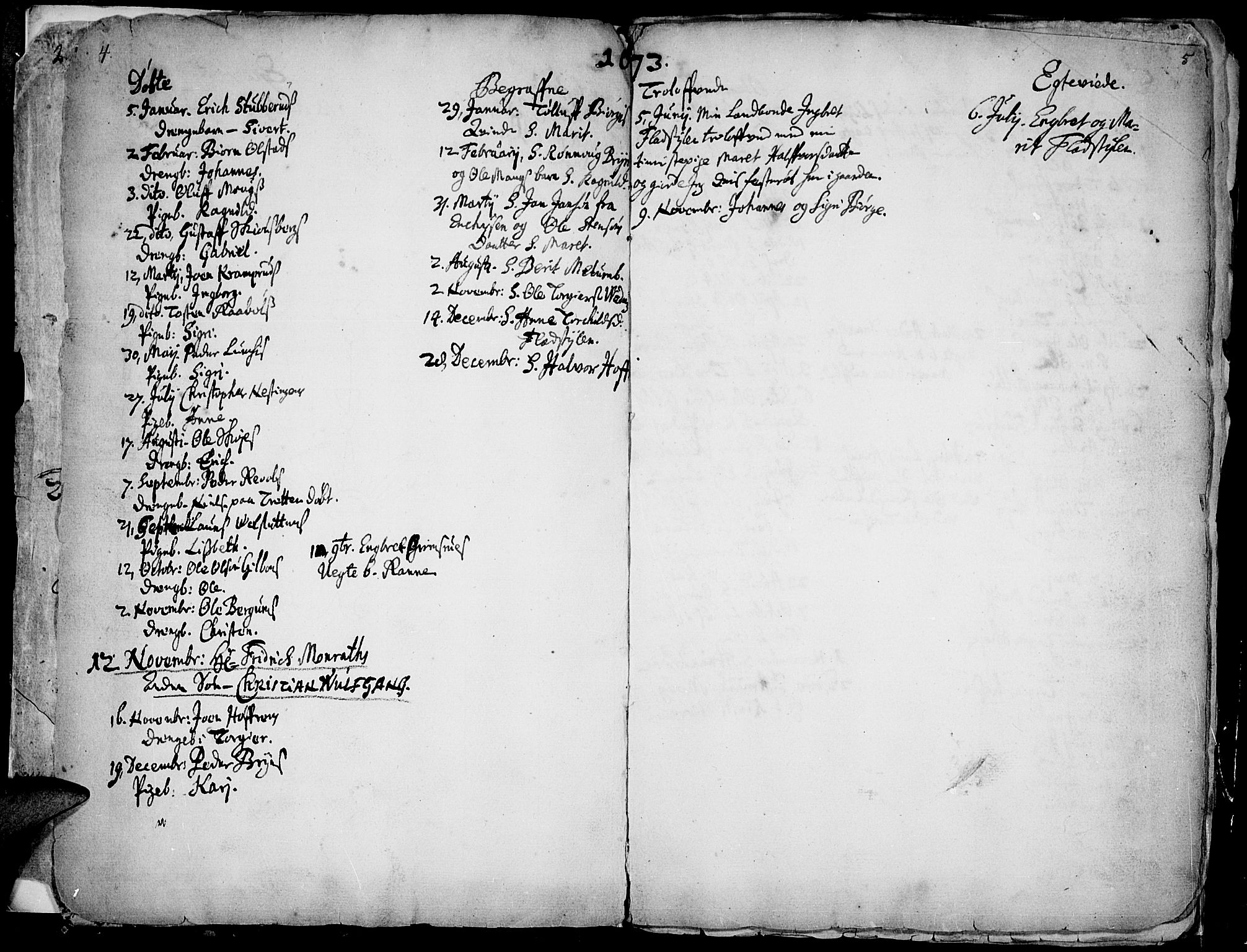 SAH, Øyer prestekontor, Ministerialbok nr. 1, 1671-1727, s. 4-5