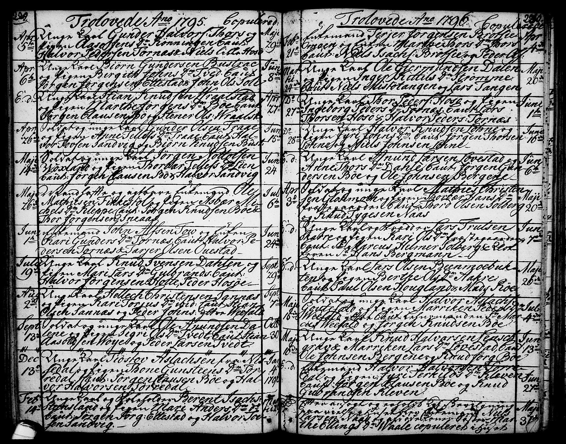 SAKO, Drangedal kirkebøker, F/Fa/L0003: Ministerialbok nr. 3, 1768-1814, s. 229-230