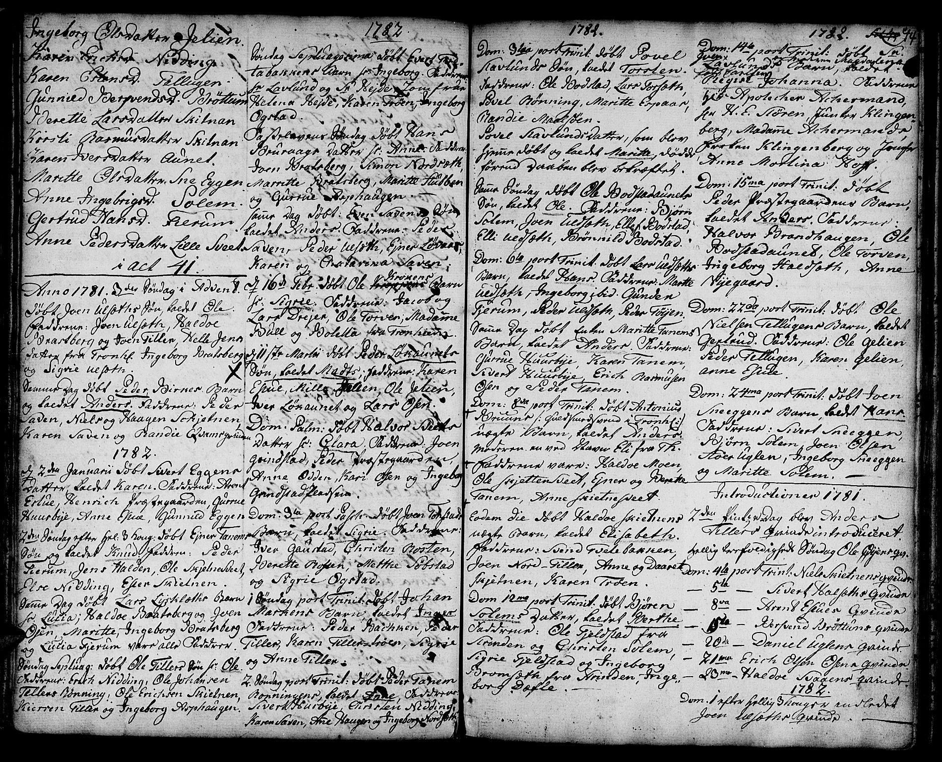 SAT, Ministerialprotokoller, klokkerbøker og fødselsregistre - Sør-Trøndelag, 618/L0437: Ministerialbok nr. 618A02, 1749-1782, s. 44