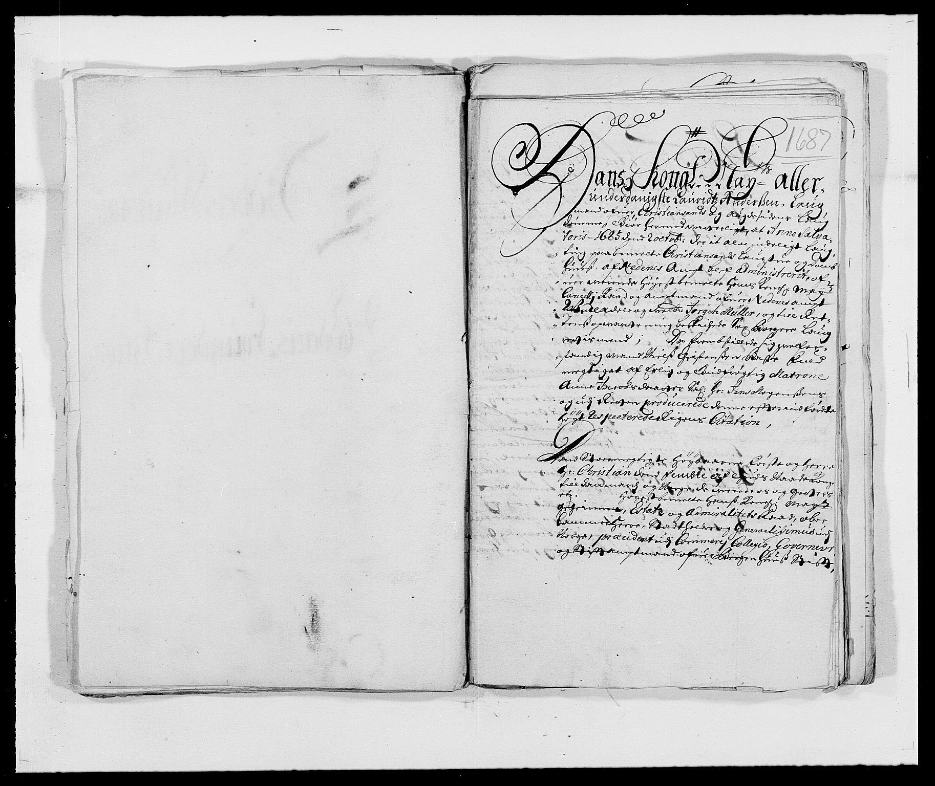 RA, Rentekammeret inntil 1814, Reviderte regnskaper, Fogderegnskap, R39/L2308: Fogderegnskap Nedenes, 1684-1689, s. 211