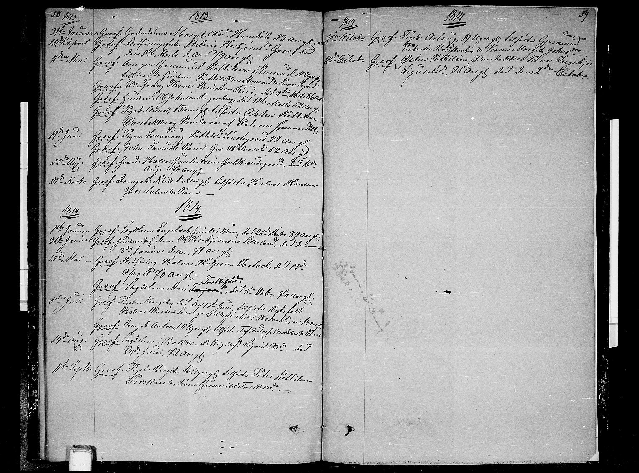 SAKO, Gransherad kirkebøker, F/Fb/L0001: Ministerialbok nr. II 1, 1800-1814, s. 58-59