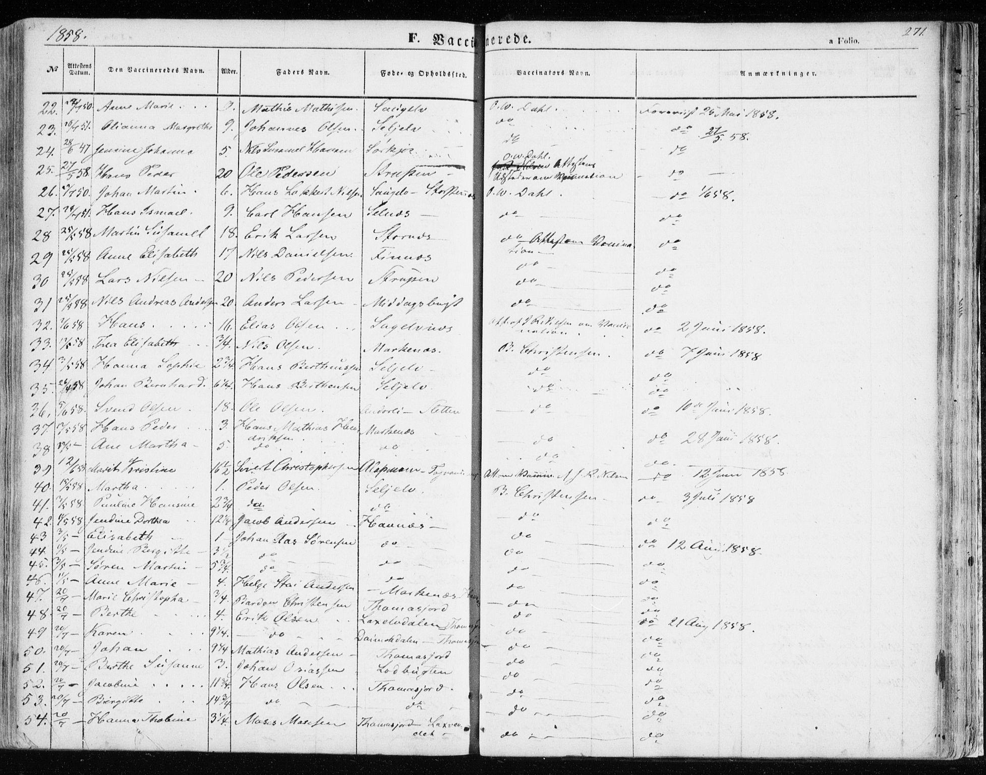 SATØ, Balsfjord sokneprestembete, Ministerialbok nr. 3, 1856-1870, s. 271