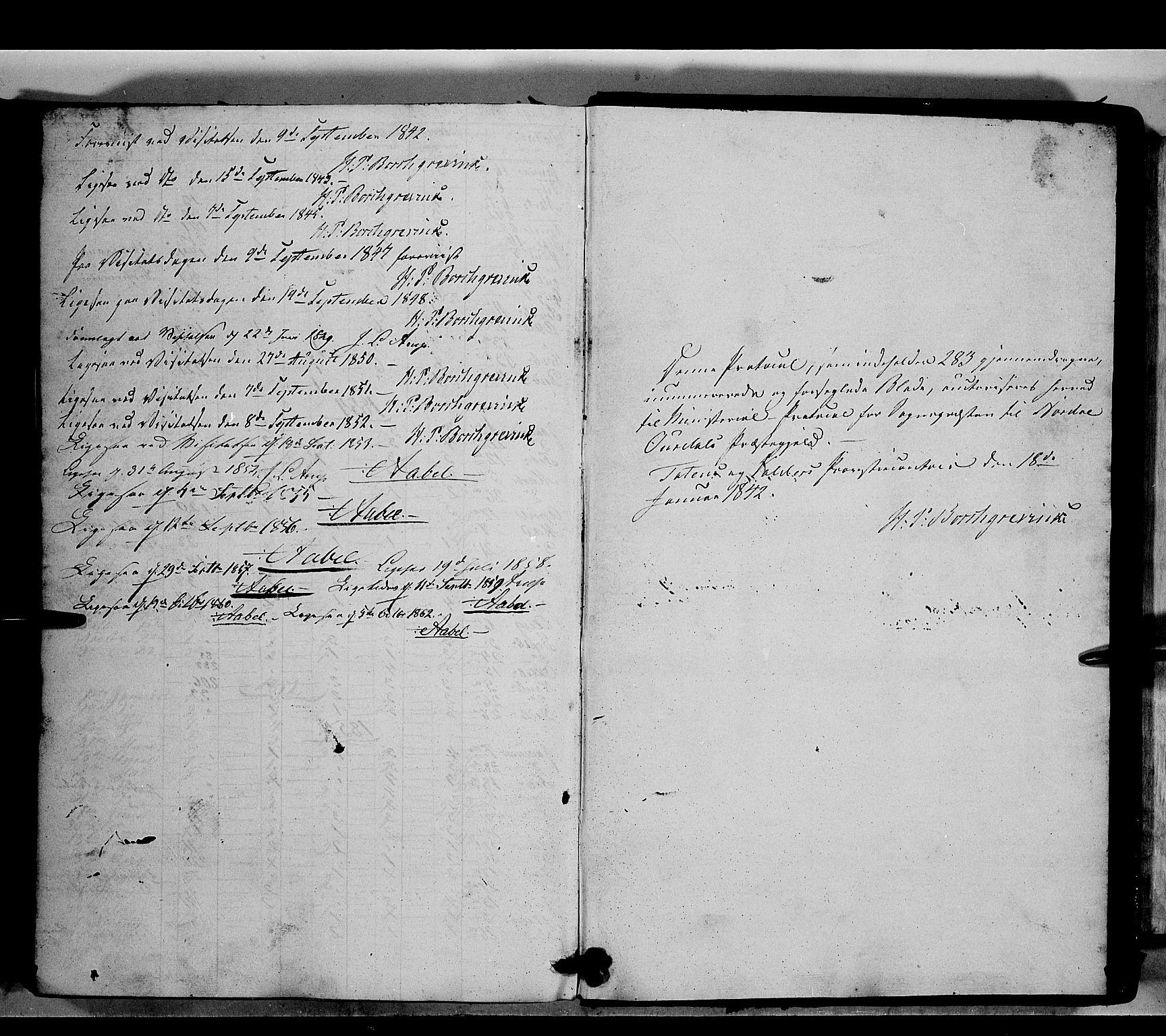 SAH, Nord-Aurdal prestekontor, Ministerialbok nr. 7, 1842-1863